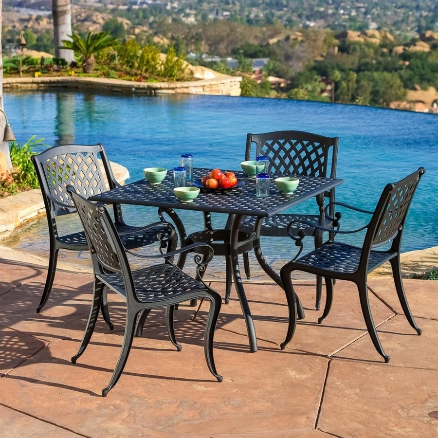Garten Storm Chairs With Espresso Finish Set Of 2 With 2019 Shop Patio Dining Sets At Lowes (#11 of 20)