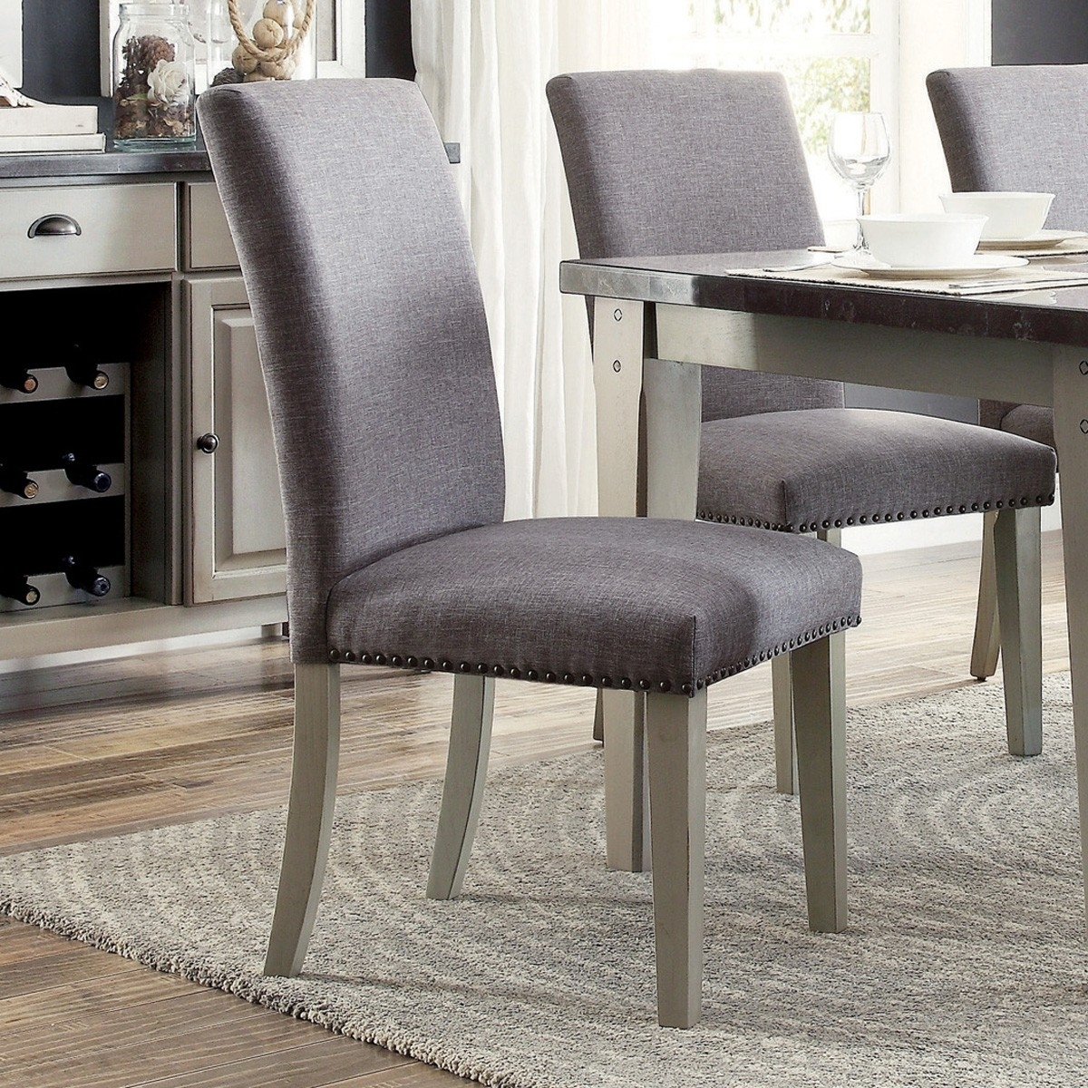 Grady Side Chairs Pertaining To Current Mendel Grey Side Chair (Set Of 2) For $ (#8 of 20)
