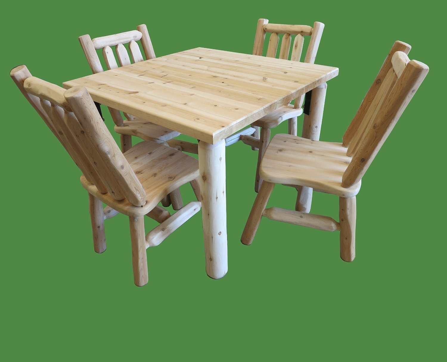 Green Cedar Dining Chairs In Latest Buy Midwest Log Furniture – Northern White Cedar Log Dining Table (#8 of 20)