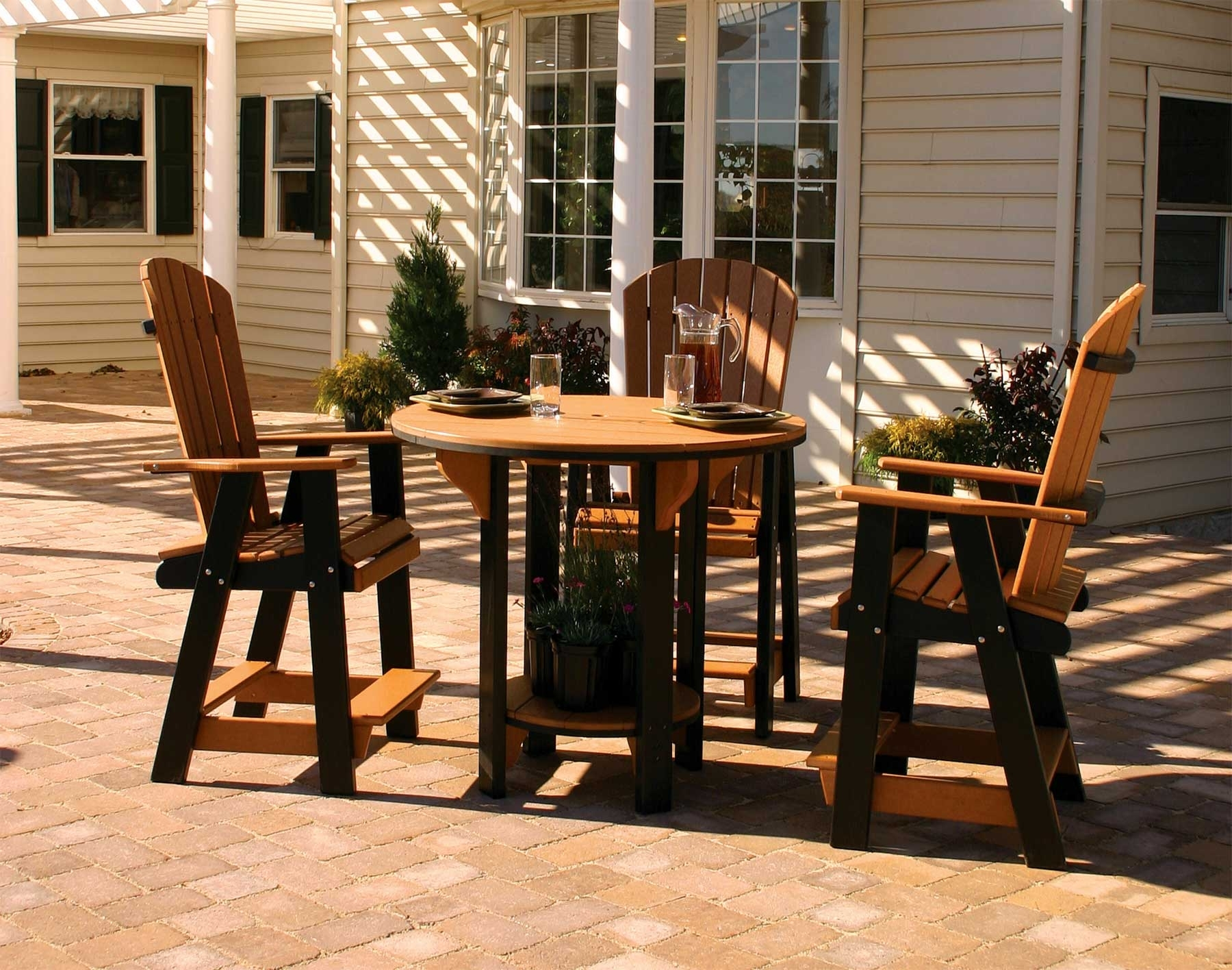 Inspiration about Green Cedar Dining Chairs Intended For Most Up To Date Poly Lumber Pub Table W/3 Balcony Chairs (#12 of 20)