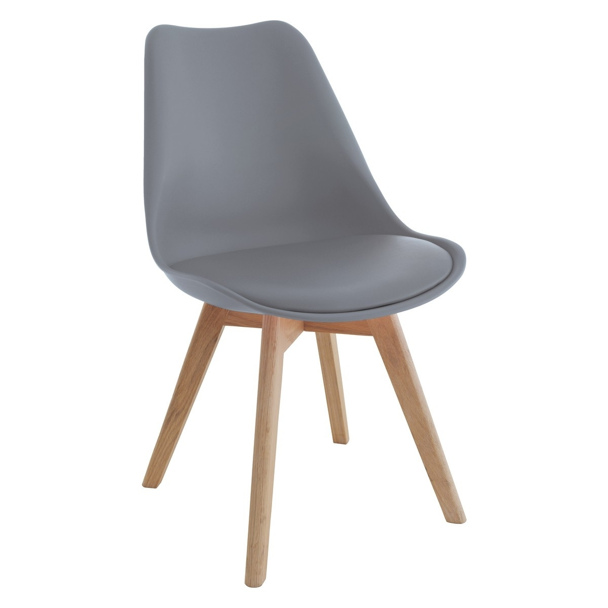 Grey Dining Chairs Intended For Preferred Jerry Grey Dining Chair With Solid Oak Legs (#6 of 20)