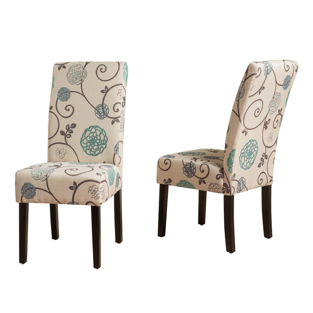 Hayden Ii Black Side Chairs In Favorite Noble House Pertica White And Blue Floral Fabric Dining Chairs (Set (#6 of 20)