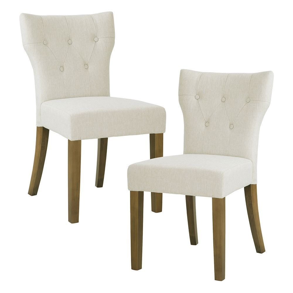 Hayes Side Chairs Pertaining To Best And Newest Madison Park Hayes Button Tufted Dining Chair 2 Piece Set (#9 of 20)