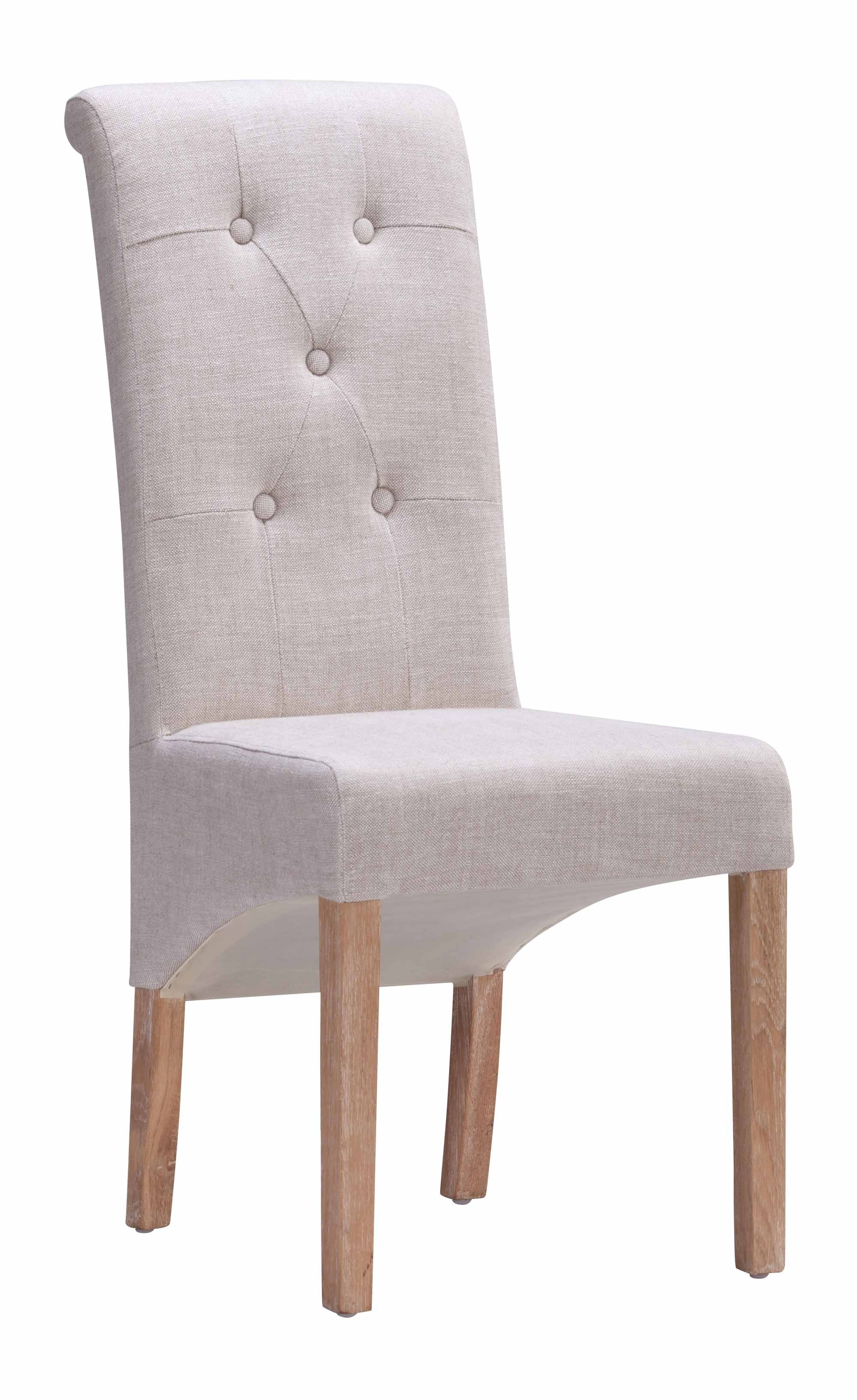 Hayes Side Chairs Within Best And Newest Hayes Valley Dining Chair Beige (Set Of 2)Zuo Modern (#11 of 20)