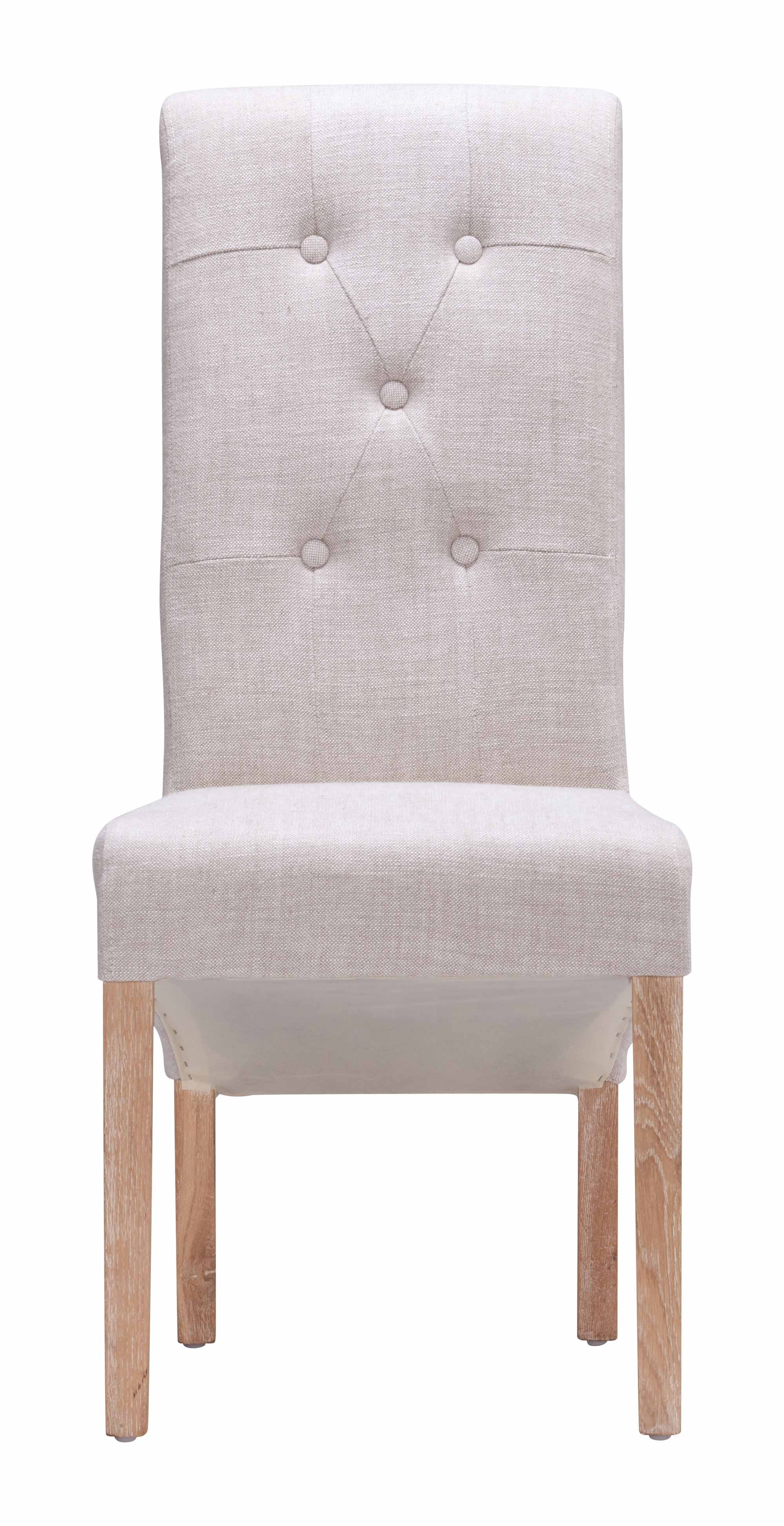 Hayes Valley Dining Chair Beige (Set Of 2)Zuo Modern Intended For Best And Newest Hayes Side Chairs (#12 of 20)