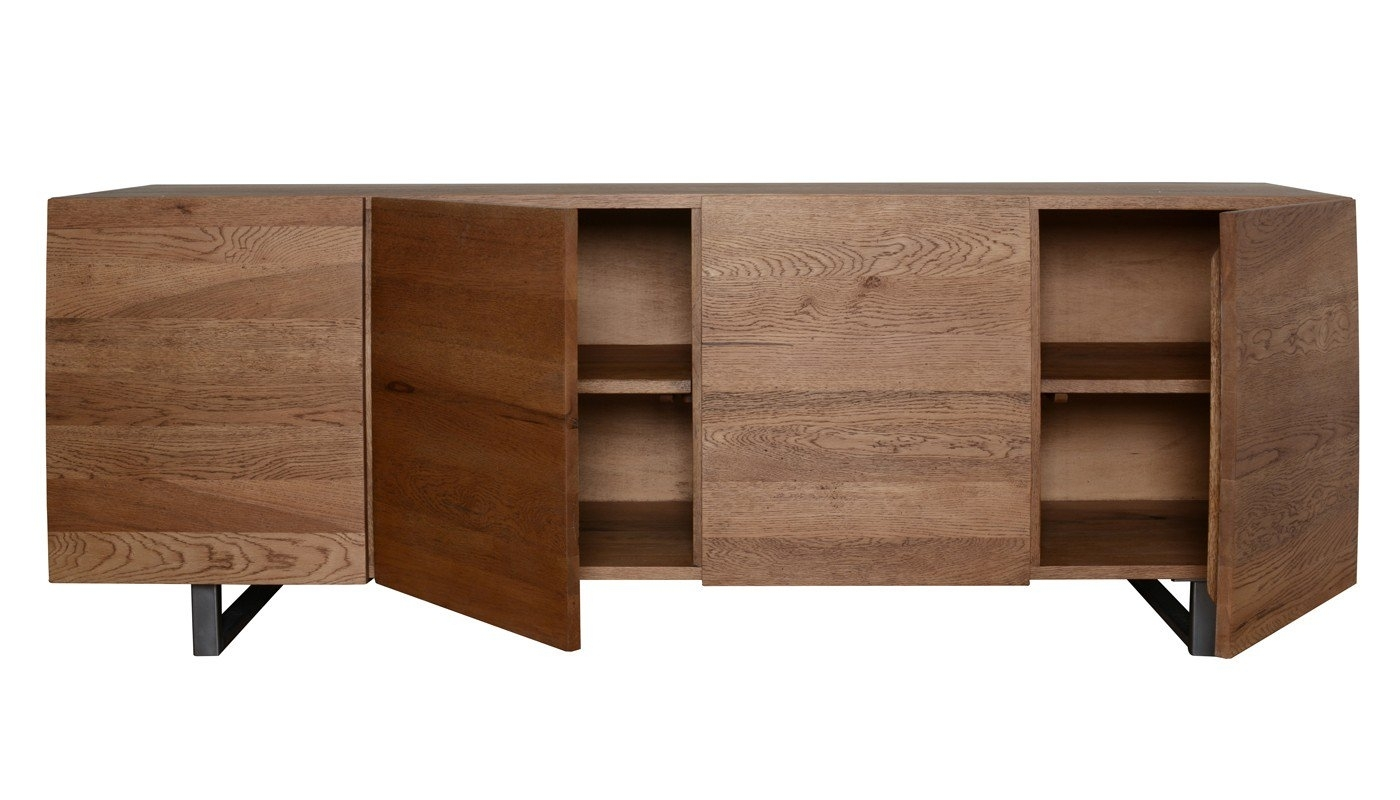 Heal's Siena 4 Door Sideboard In Antique Oak | Heal's Within Current Vintage 8 Glass Sideboards (View 6 of 20)