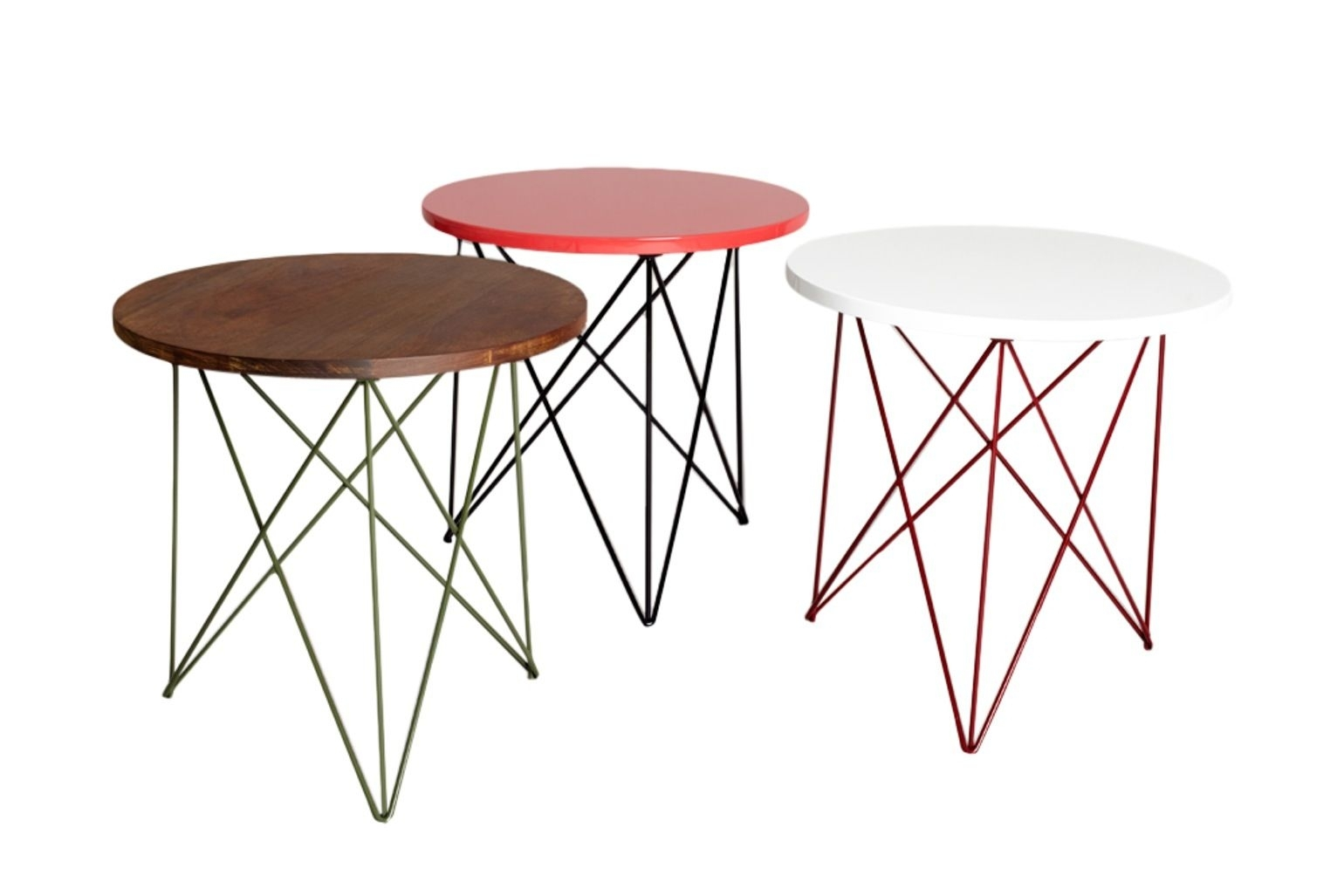 Helms Side Chairs For Most Recently Released Helms Side Table Contemporary, Midcentury Modern, Lacquer, Metal (#5 of 20)