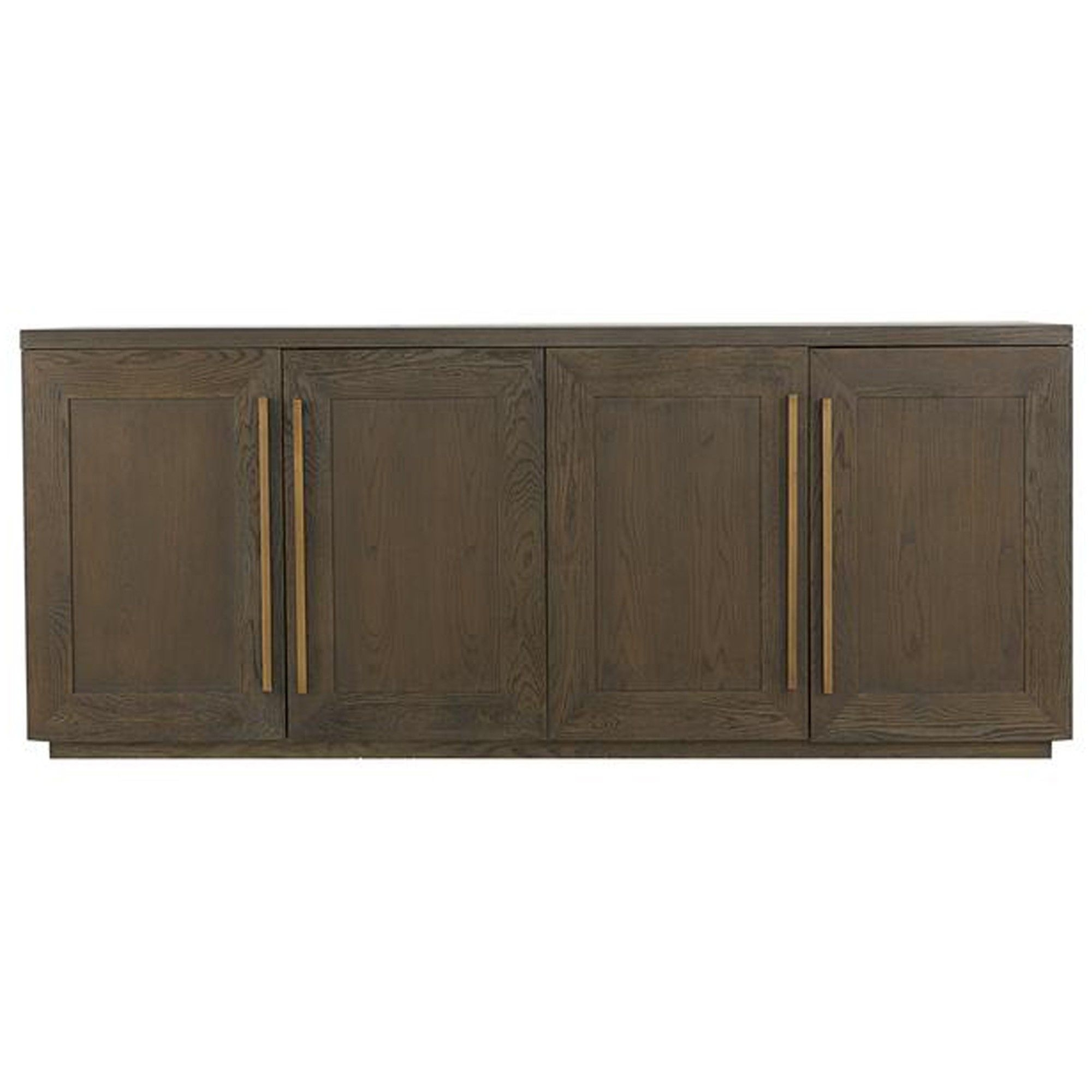 Henli Brown Oak Sideboard With Aged Brass Frame Accents (View 7 of 20)