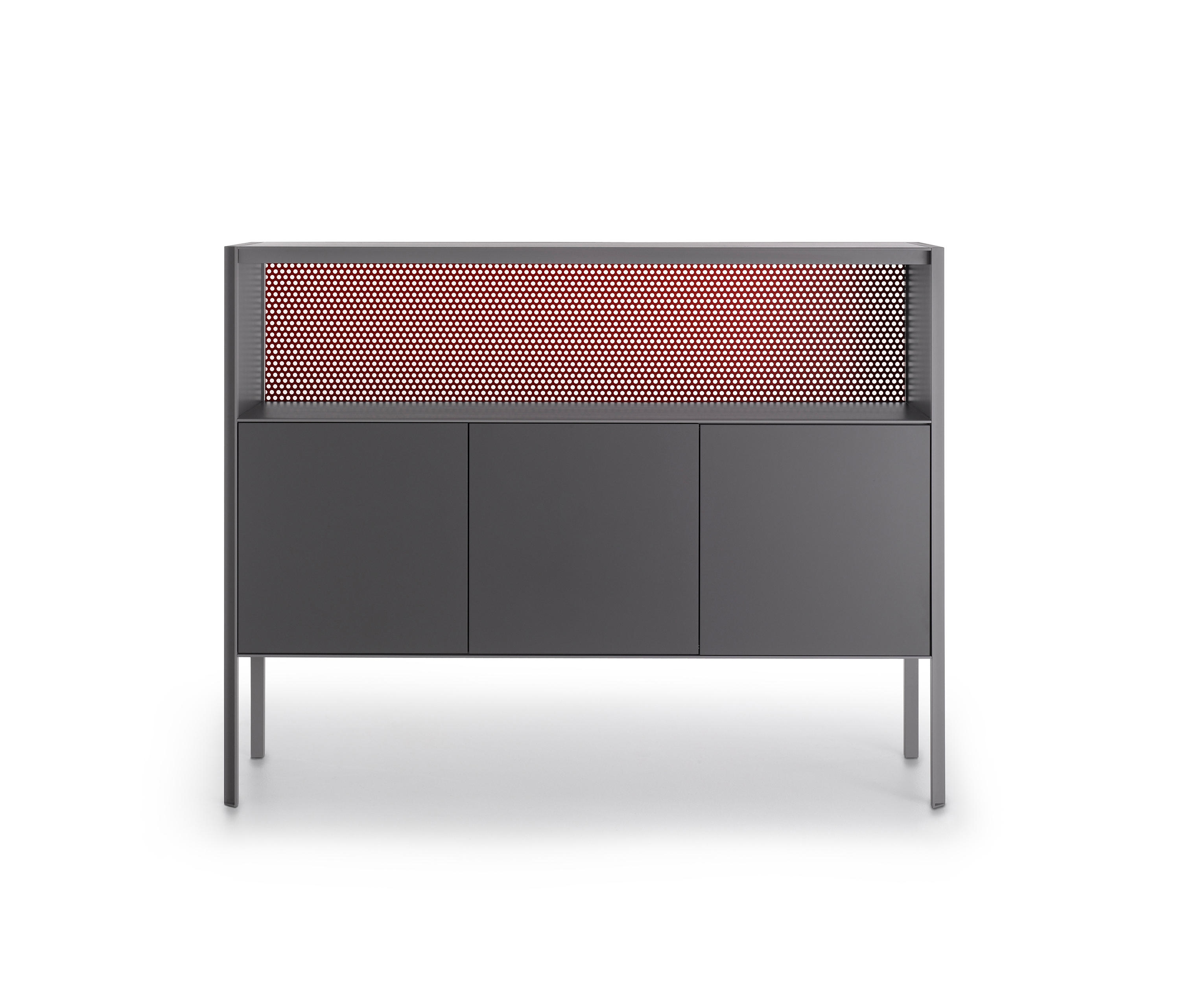 Heron – Sideboards From Mdf Italia | Architonic Within Newest 4 Door/4 Drawer Metal Inserts Sideboards (#9 of 20)