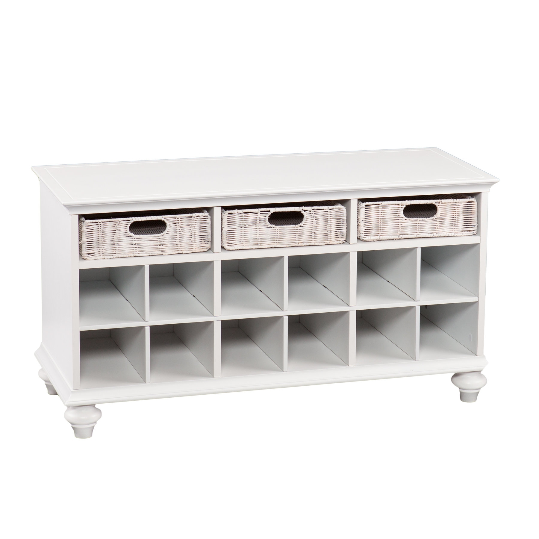 Home Etc Chelmsford Wood Storage Bench & Reviews | Wayfair.co (View 7 of 20)
