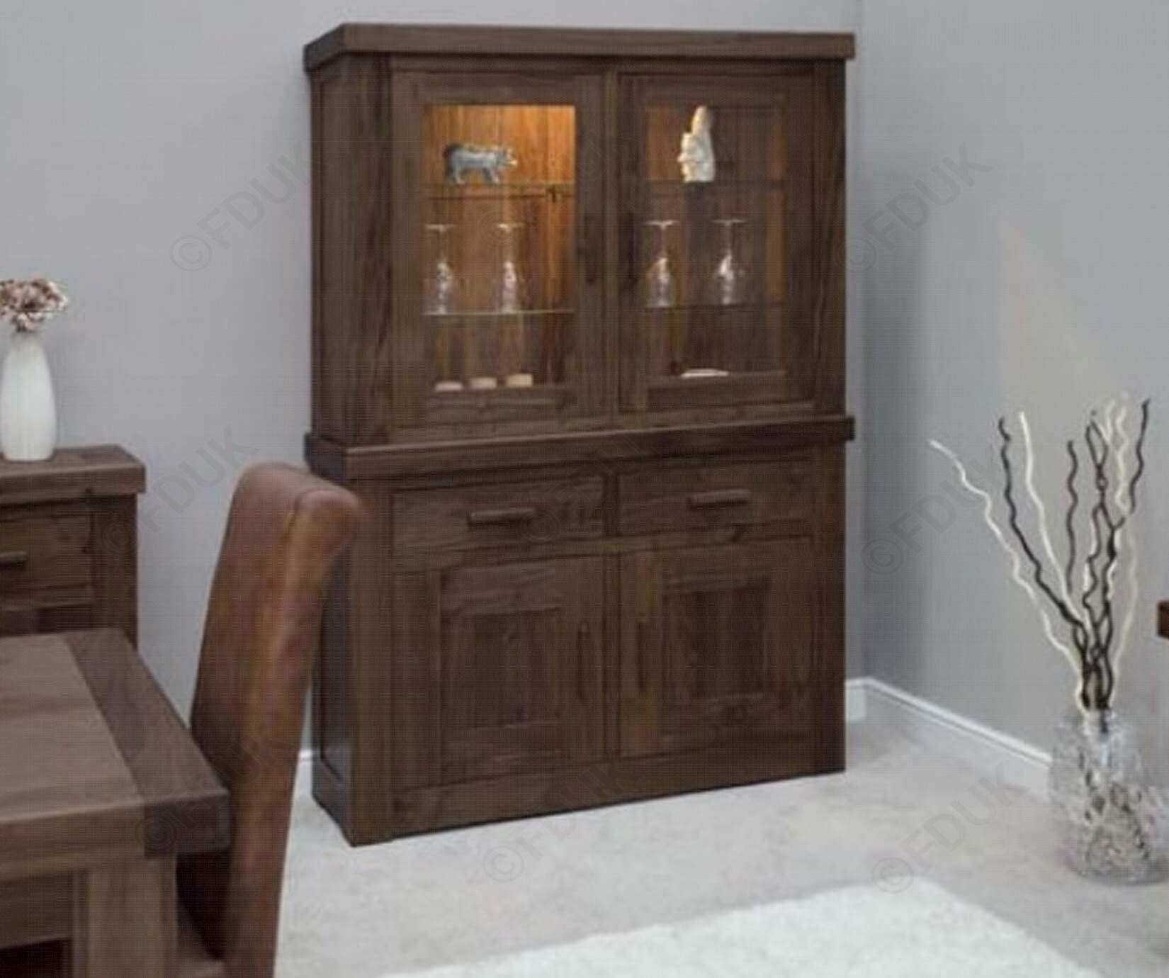 Homestyle Gb   Walnut Small Top For Sideboard   Furnituredirectuk Pertaining To Recent Walnut Small Sideboards (View 12 of 20)