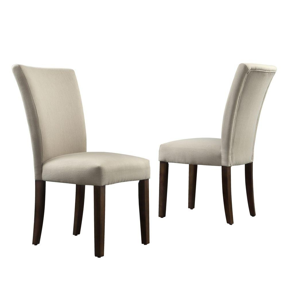 Homesullivan Whitmire Grey Fabric Parsons Dining Chair (Set Of 2 Inside Popular Walden Upholstered Side Chairs (#6 of 20)