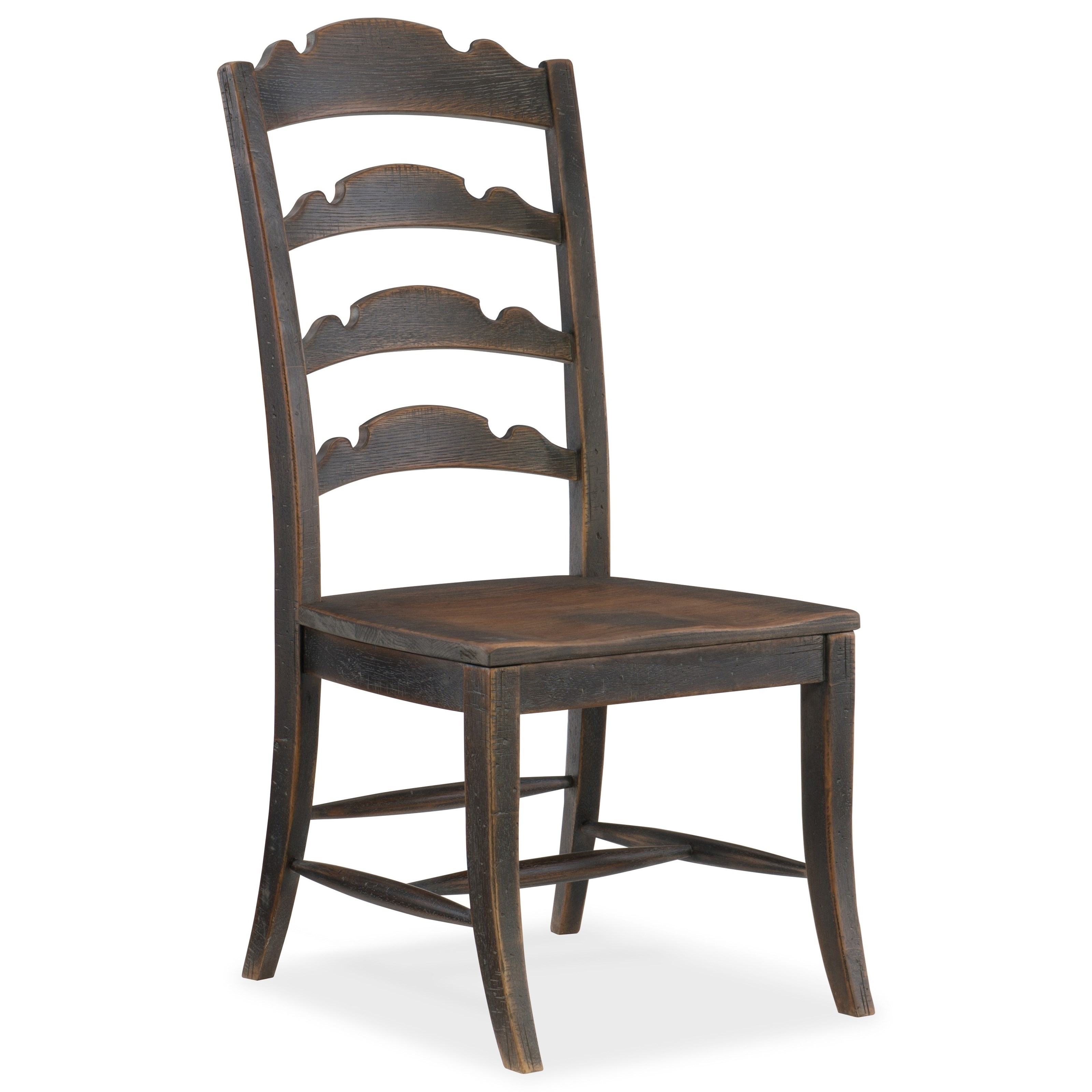 Hooker Furniture Hill Country Twin Sisters Ladderback Side Chair Inside Recent Magnolia Home Hamilton Saddle Side Chairs (#6 of 20)