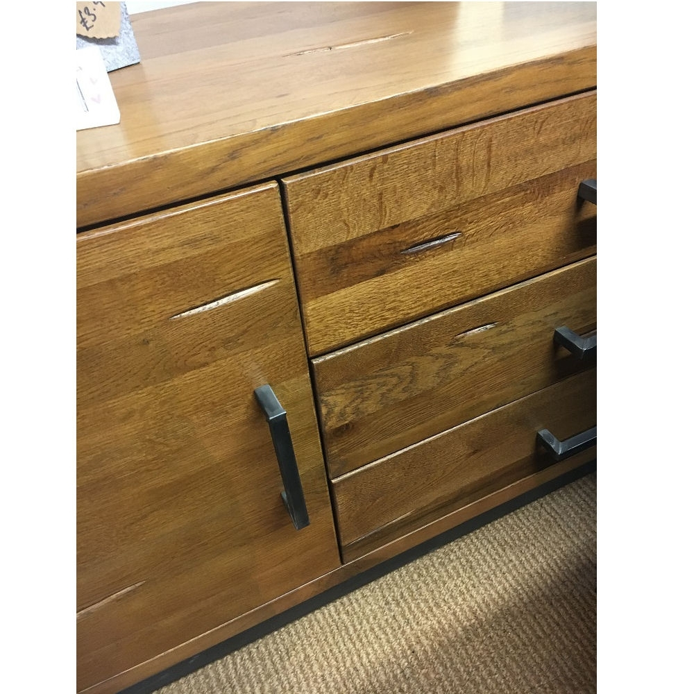 Hudson Industrial 2 Door 3 Drawer Sideboard – Azura Home Style Intended For Most Recent Industrial 3 Drawer 3 Door Sideboards (#8 of 20)