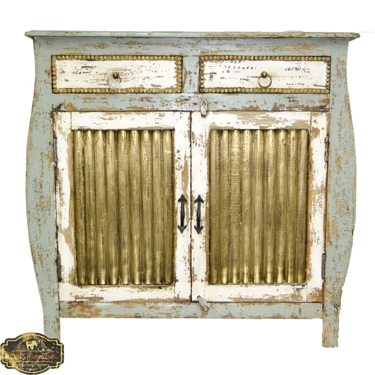 Inspiration about Indian Furniture, Bohemian Furniture & Distressed Furniture | East Inside Recent Corrugated Metal Sideboards (#13 of 20)
