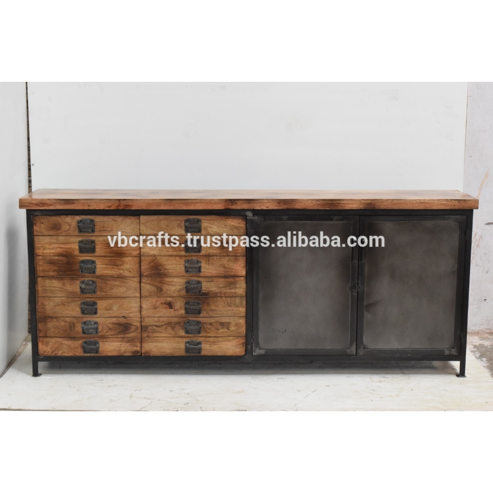 Inspiration about Industrial Metal Multidrawer Sideboard – Buy Industrial Metal Iron Throughout Most Up To Date Corrugated Metal Sideboards (#4 of 20)