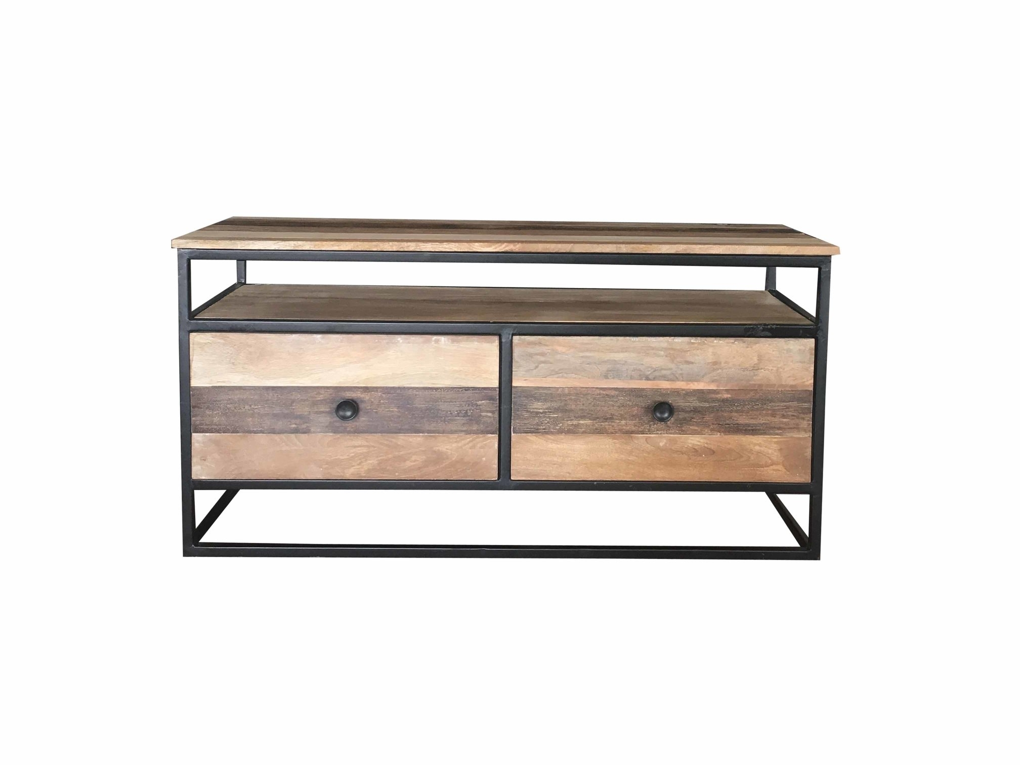 Inspiration about Industrial Reclaimed Mango Wood Tv Stand/media Unit/coffee Table With 2017 Metal Framed Reclaimed Wood Sideboards (#19 of 20)