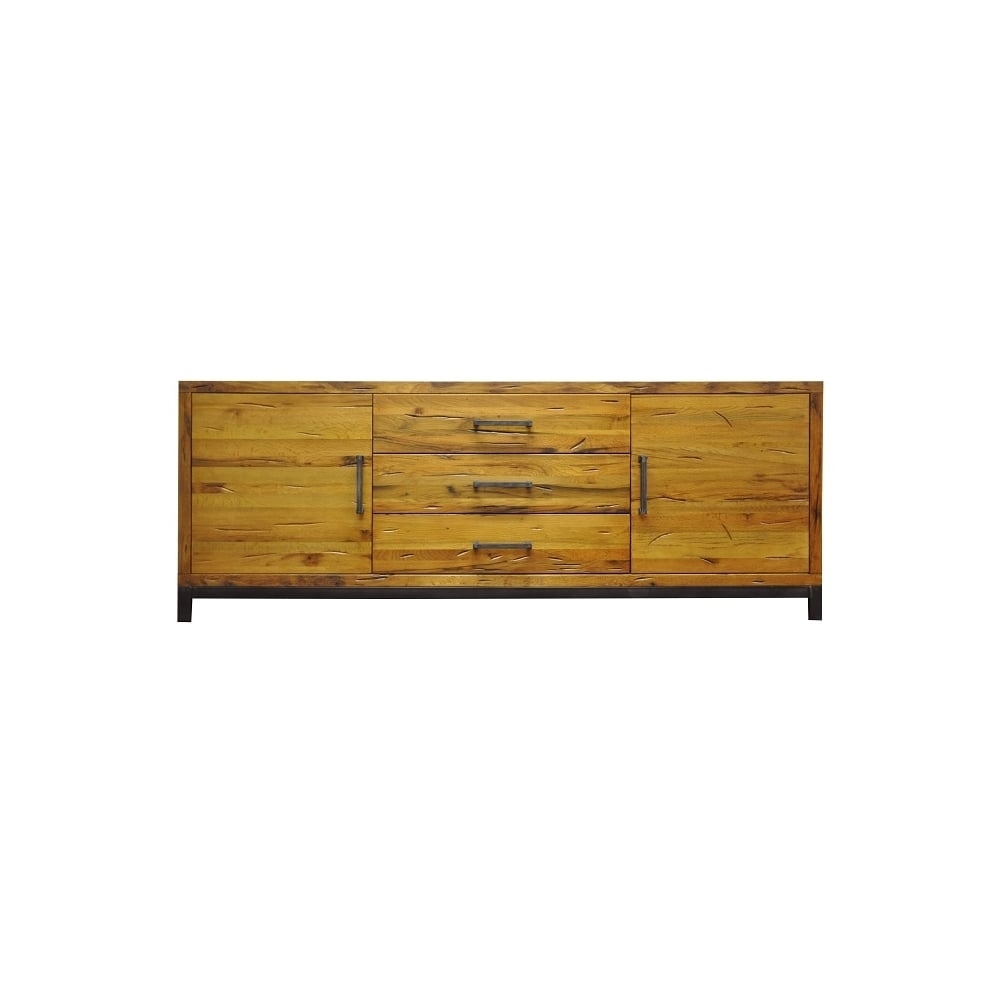 Industrial Style Sideboard With Most Current Industrial 3 Drawer 3 Door Sideboards (#13 of 20)