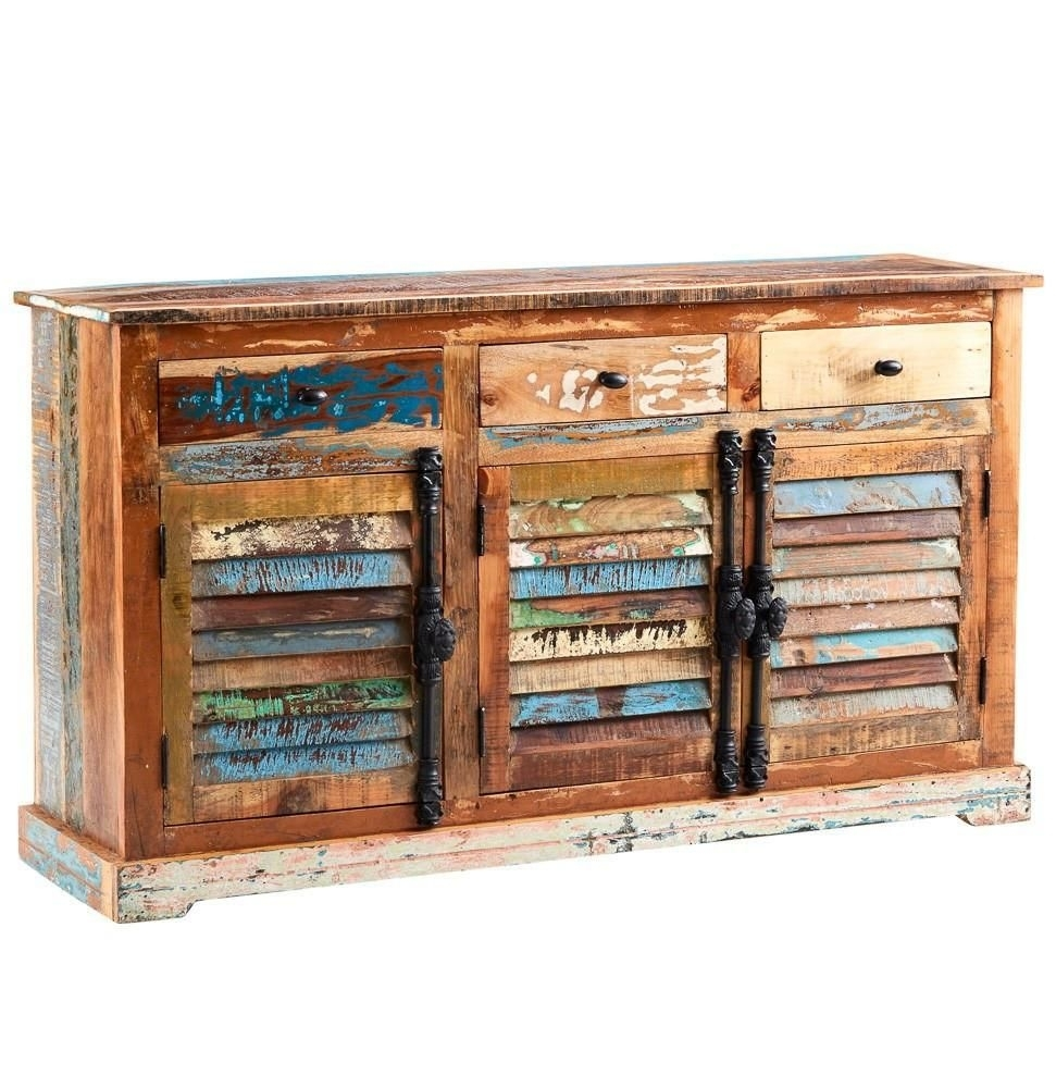 Instrument Boat Large Sideboard [reclaimed Wood] | Instrument Within 2017 Reclaimed Pine Turquoise 4 Door Sideboards (View 14 of 20)