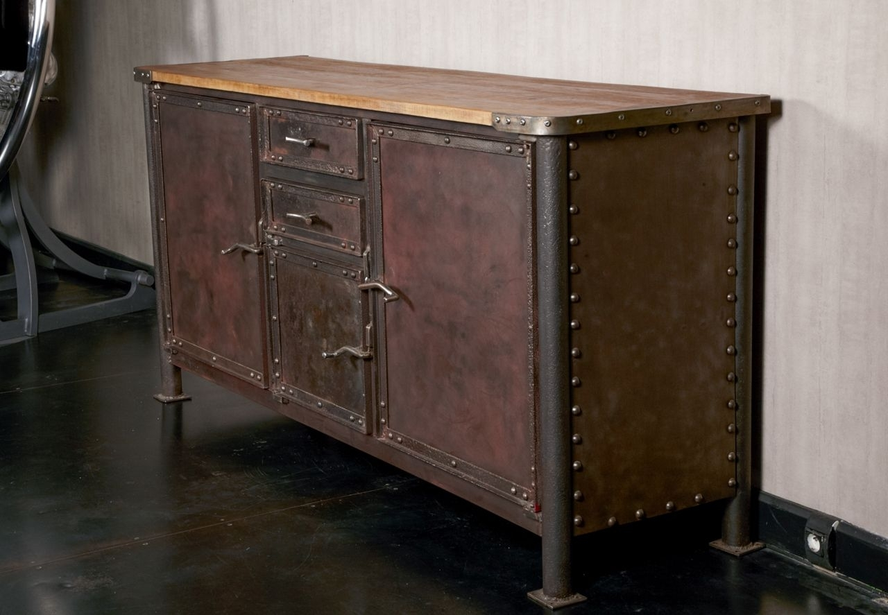 Iron And Oak Industrial Buffet | Furniture Storage, Buffet And Throughout Most Recently Released Iron Sideboards (#10 of 20)