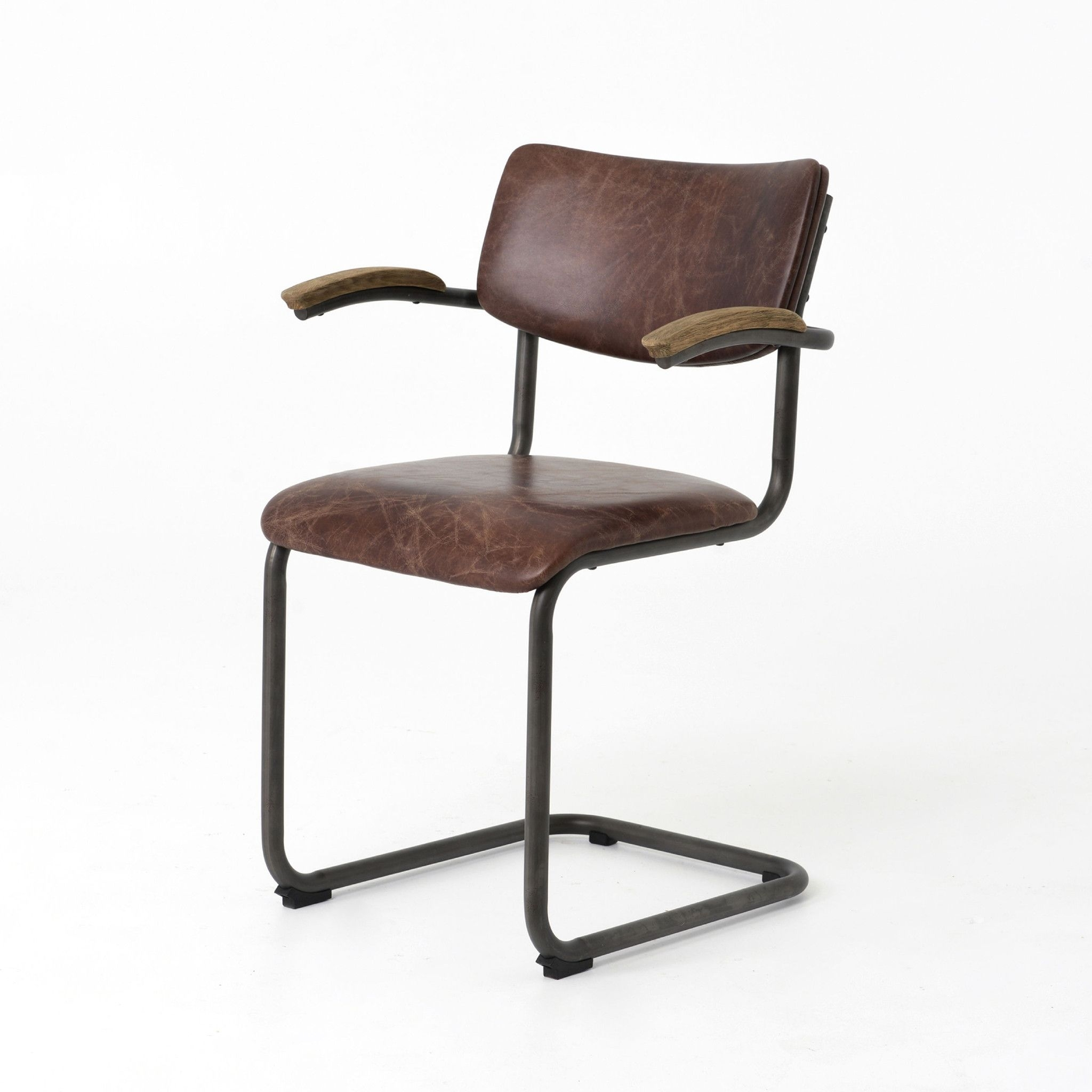 Irondale Quinn Dining Chair Havana/waxed Black/drifted Oak Pertaining To Best And Newest Magnolia Home Emery Ivory Burlap Side Chairs (#4 of 20)