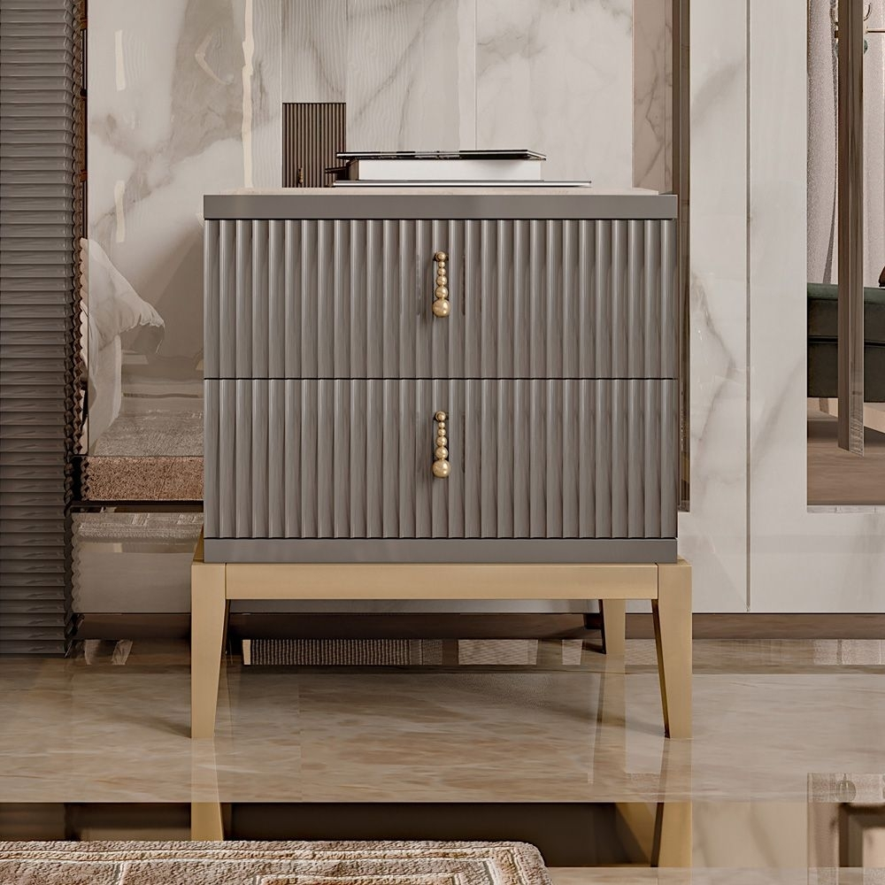 Inspiration about Italian Art Deco Inspired Designer Lacquered Bedside | F Regarding Most Popular Geo Capiz Sideboards (#19 of 20)