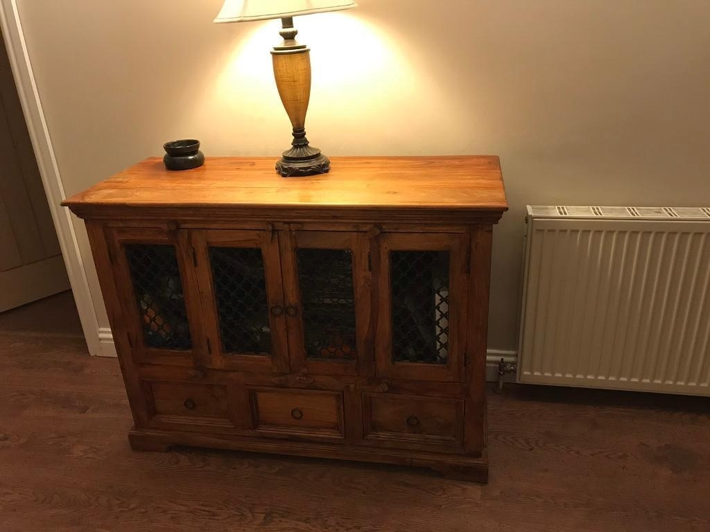 Jali/sheesham Indian Rosewood Sideboard | In Royton, Manchester In Newest 4 Door/4 Drawer Cast Jali Sideboards (#5 of 20)