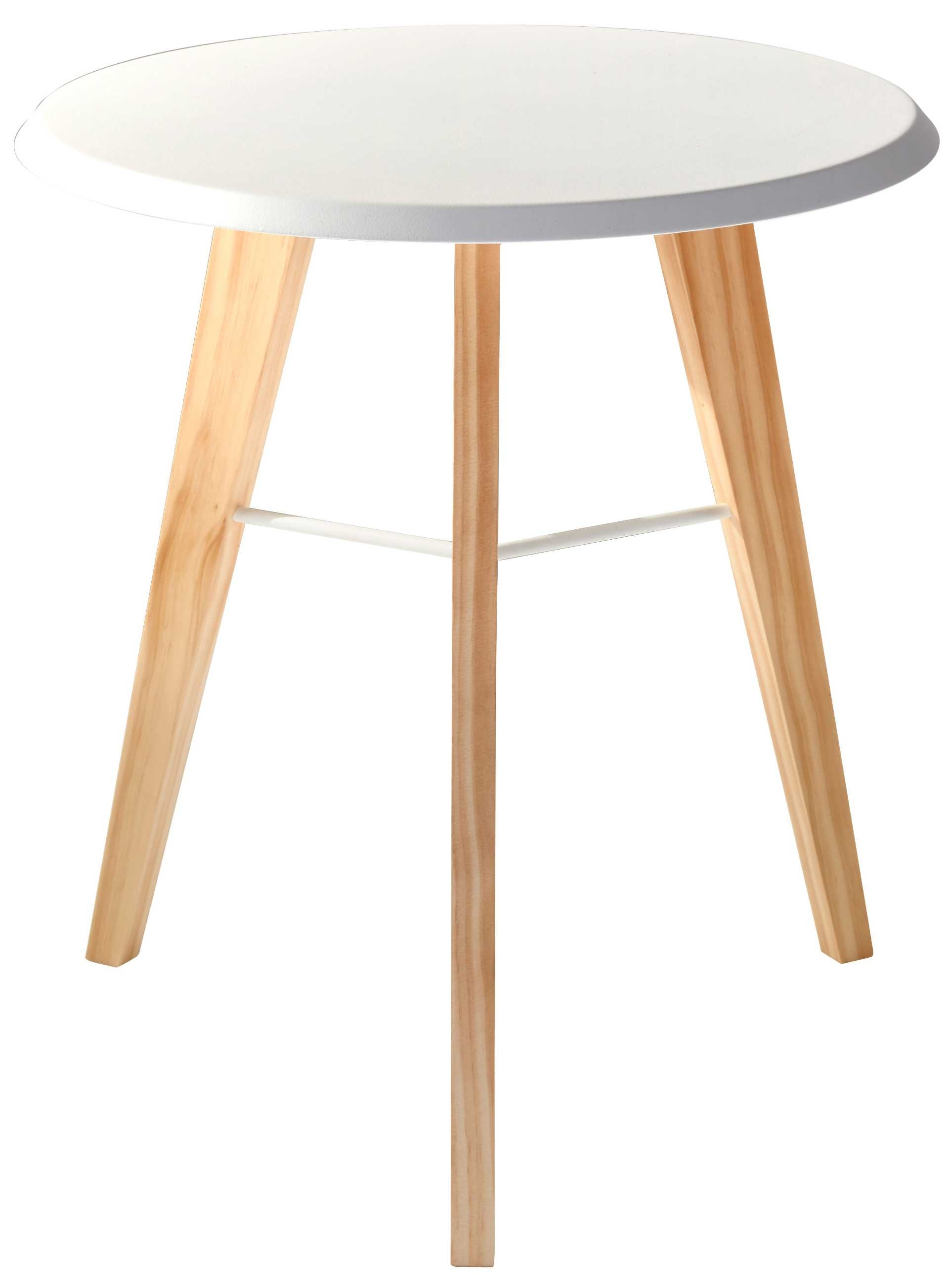 Jaxon Accent Table (White/natural)Adesso Furniture Pertaining To Well Known Jaxon Grey Wood Side Chairs (#4 of 20)