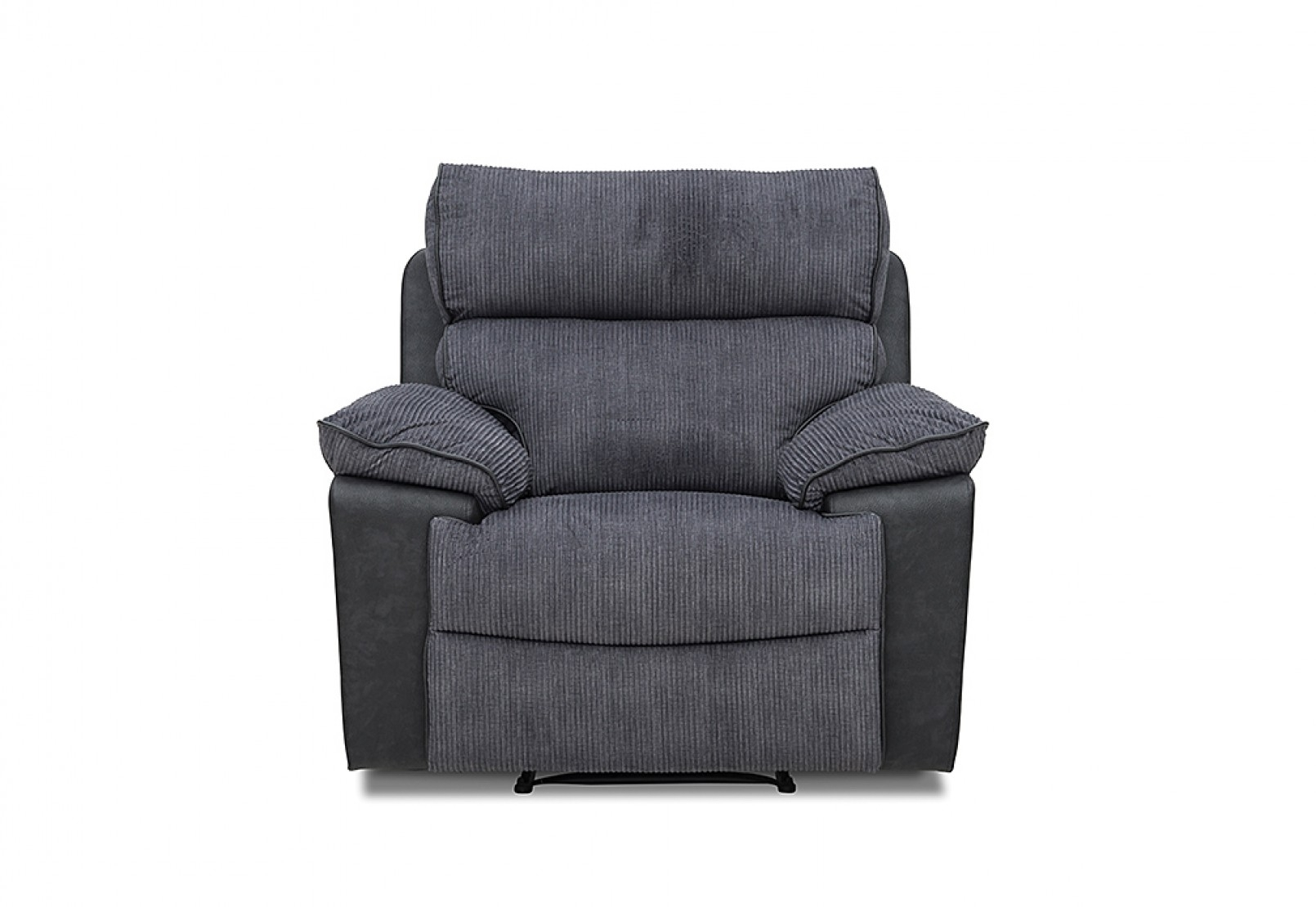 Jaxon Grey Upholstered Side Chairs Pertaining To Newest Jaxon Fabric Recliner (#7 of 20)