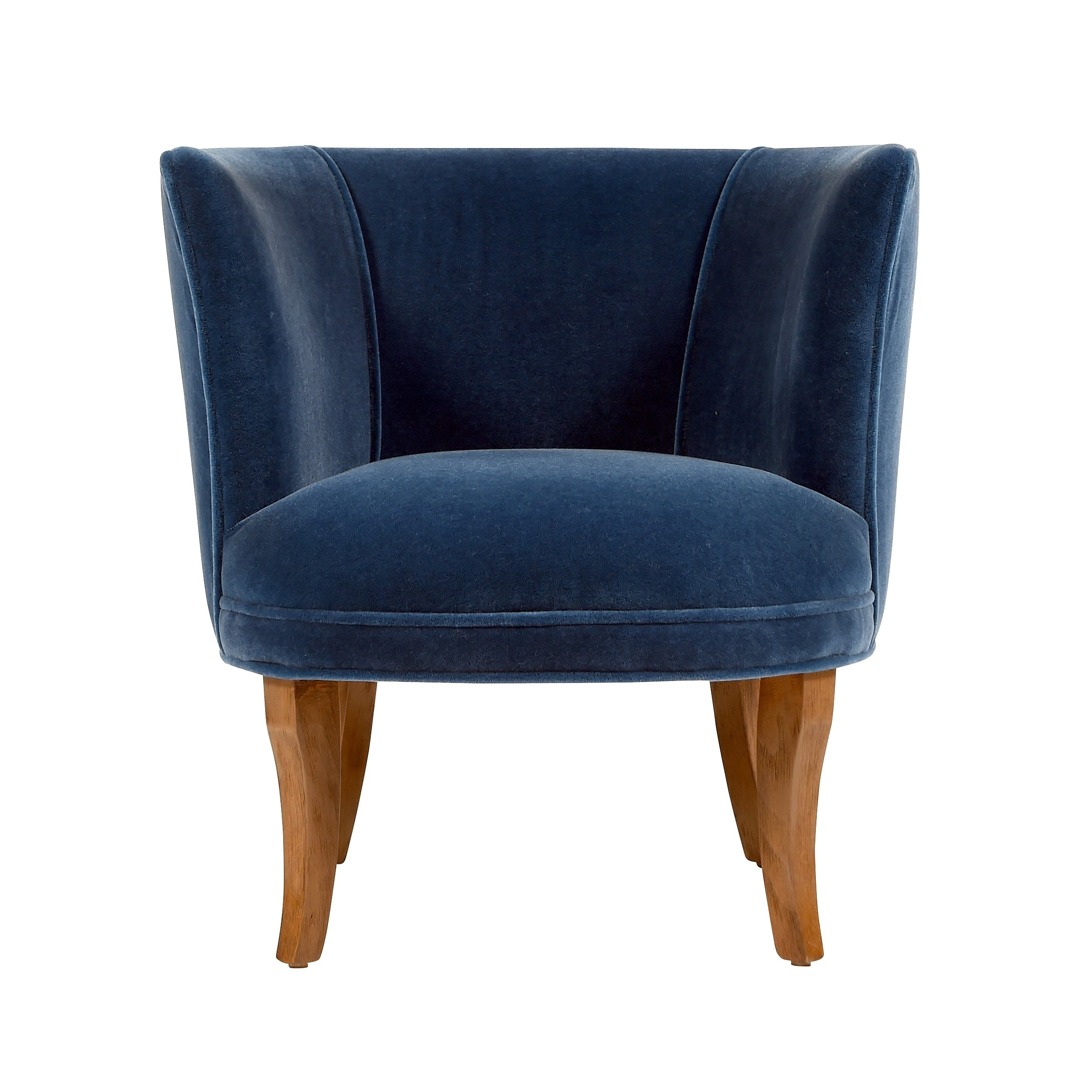 Jaxon Grey Upholstered Side Chairs Within Famous Shop Jaxon Bella Navy Blue Velvet Upholstered Armchair – Free (#8 of 20)