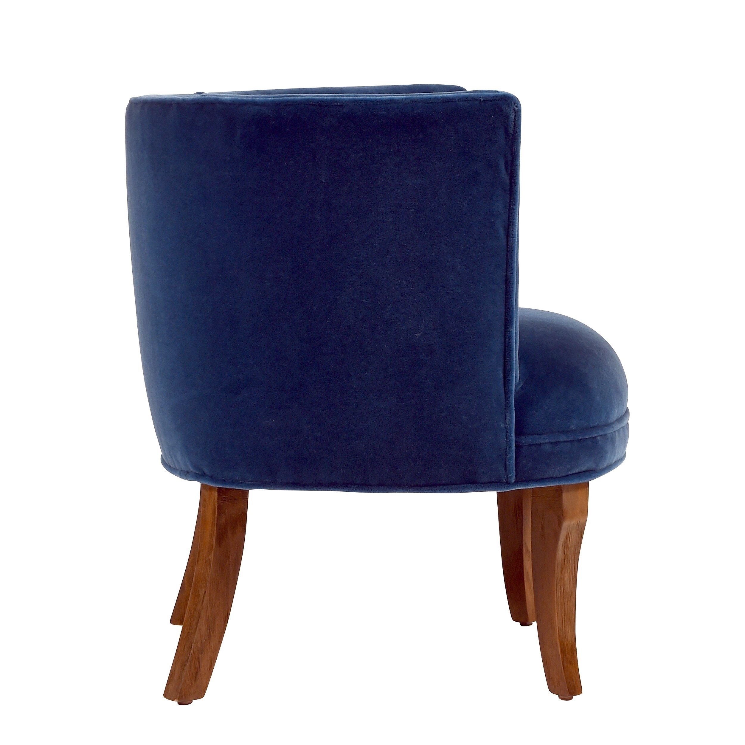 Jaxon Grey Upholstered Side Chairs Within Most Recently Released Shop Jaxon Bella Navy Blue Velvet Upholstered Armchair – Free (#9 of 20)