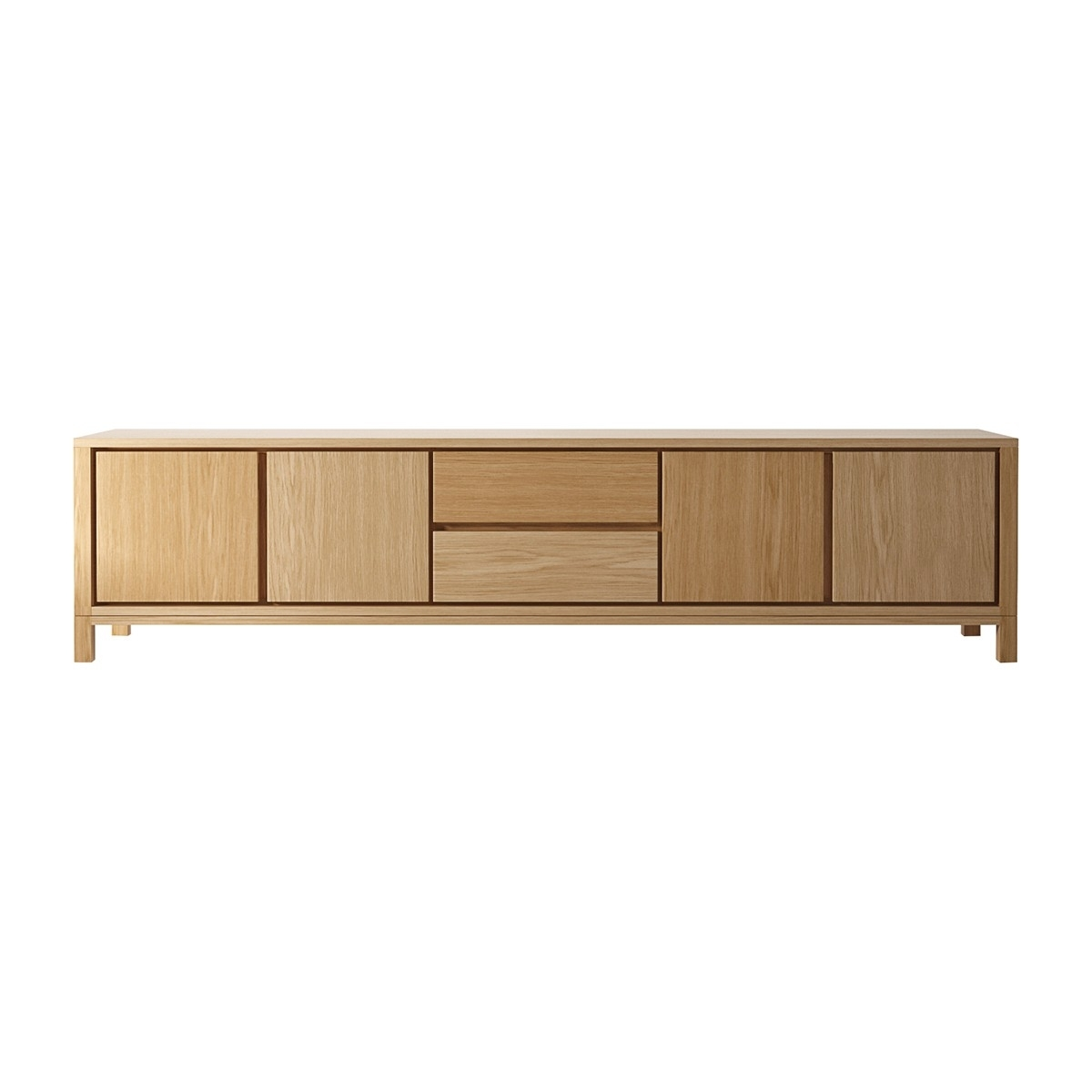 Karpenter – Solid Sideboard 2 Drawers & 4 Doors – Modern Sideboards Within Most Popular Open Shelf Brass 4 Drawer Sideboards (View 15 of 20)