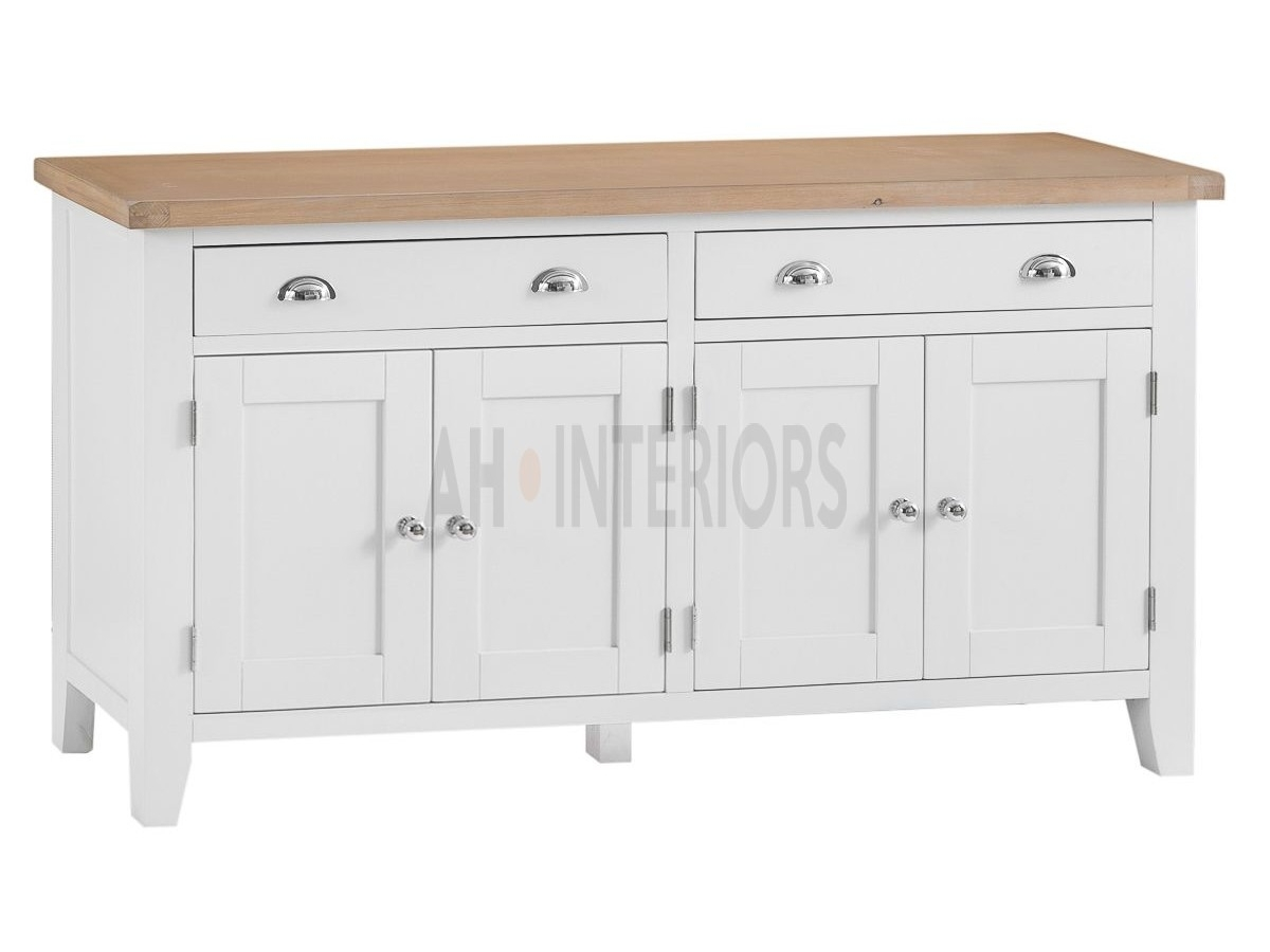 Kettle Interiors Tt Extra Large 4 Door Sideboard Intended For Best And Newest White Wash 4 Door Sideboards (View 11 of 20)