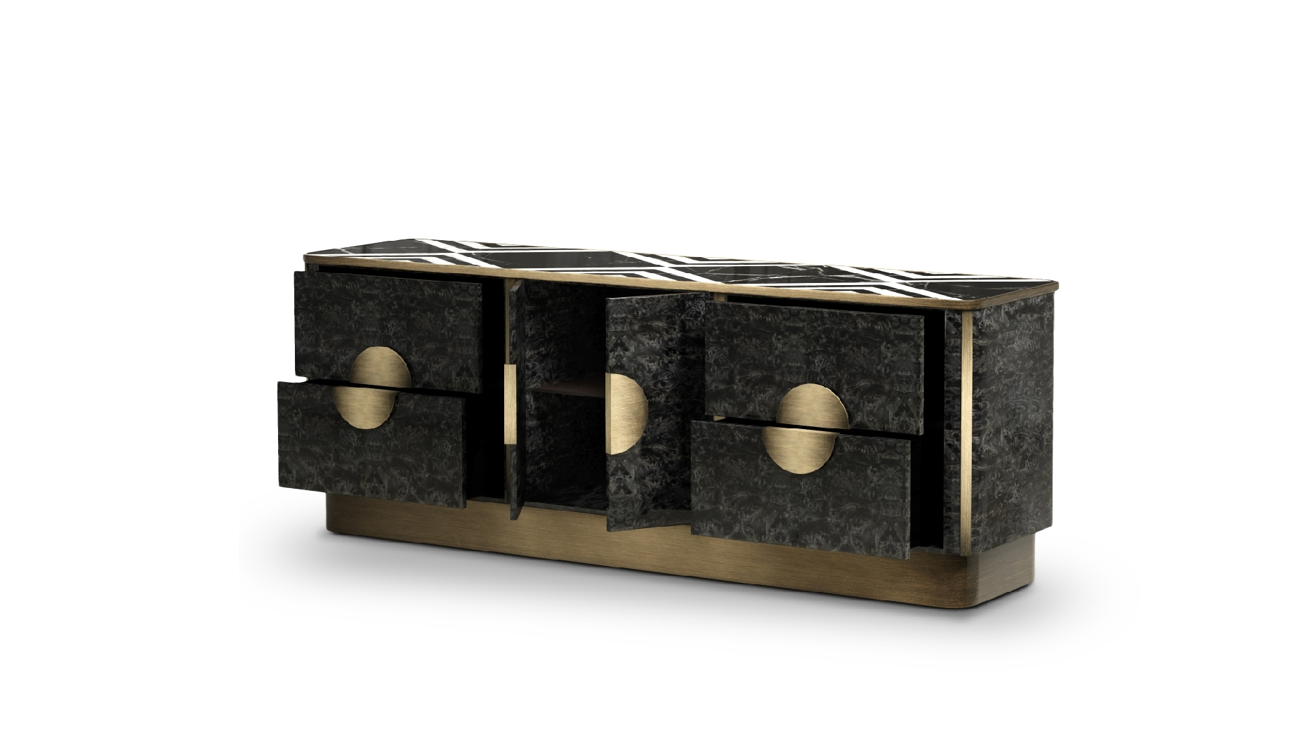 Knox Sideboardporustudio | Breath Out Creativity With Latest Aged Brass Sideboards (View 19 of 20)