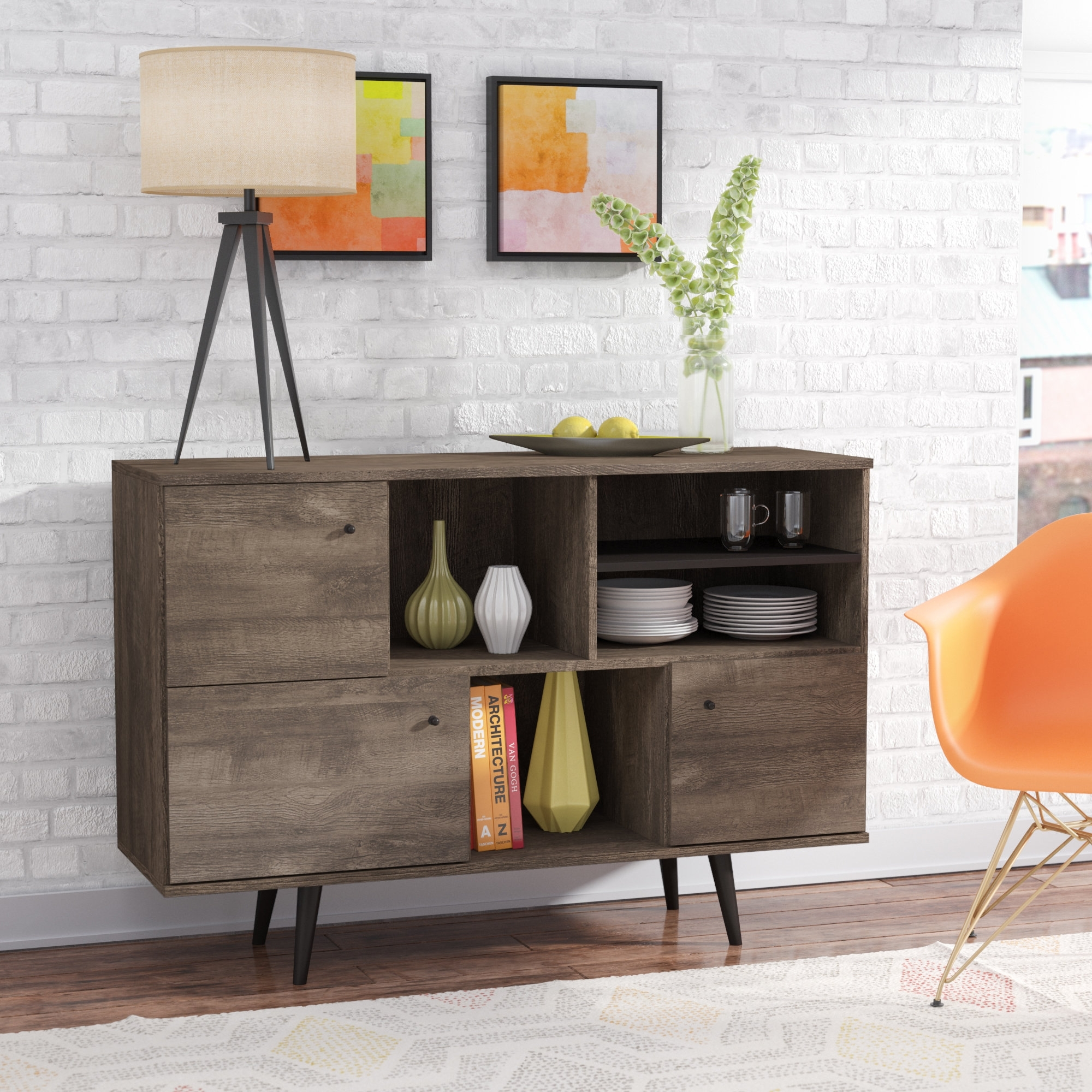 Inspiration about Langley Street Norloti Sideboard & Reviews | Wayfair Intended For 2017 4 Door Wood Squares Sideboards (#14 of 20)