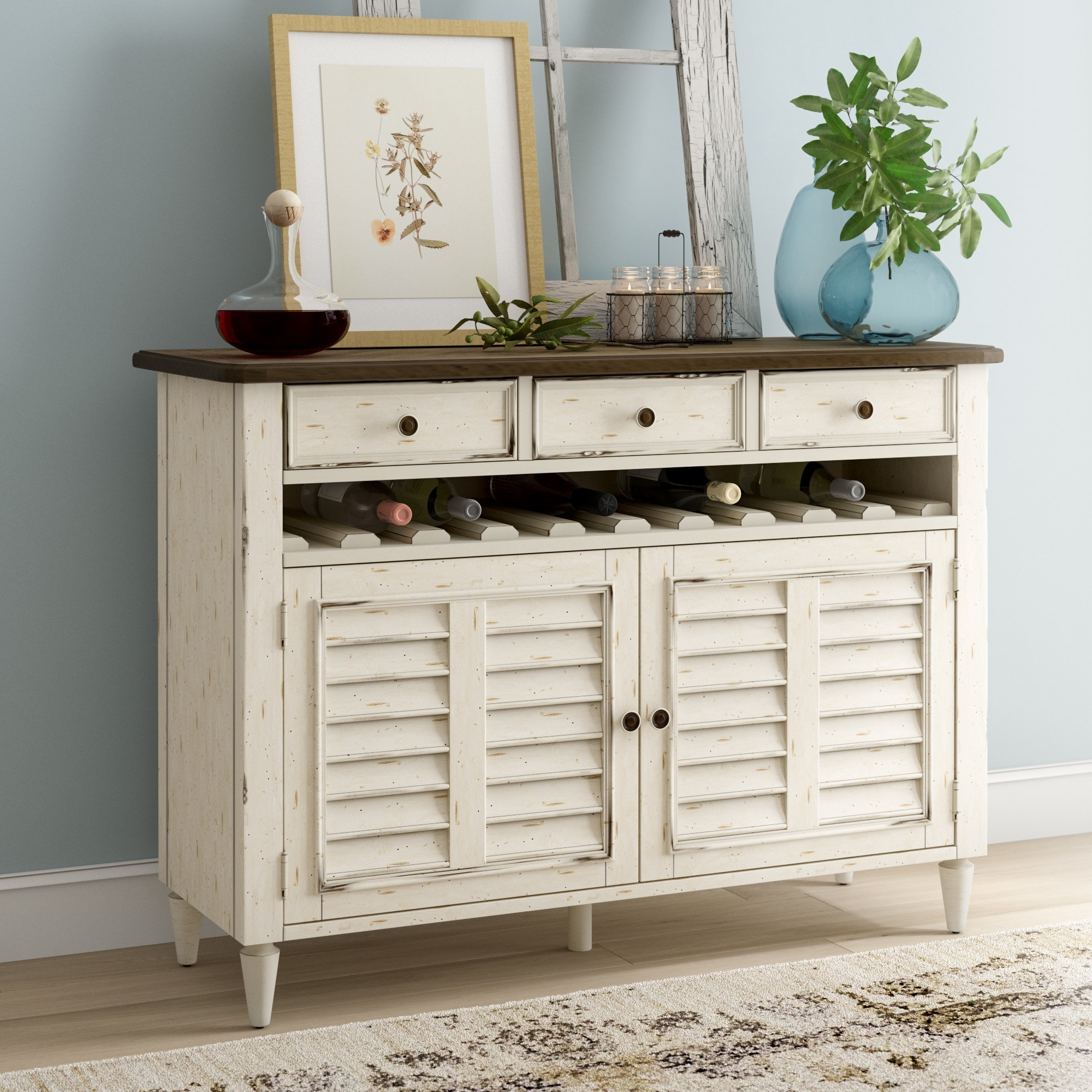 Inspiration about Lark Manor Baleine Sideboard & Reviews | Wayfair Intended For Newest Burn Tan Finish 2 Door Sideboards (#11 of 20)
