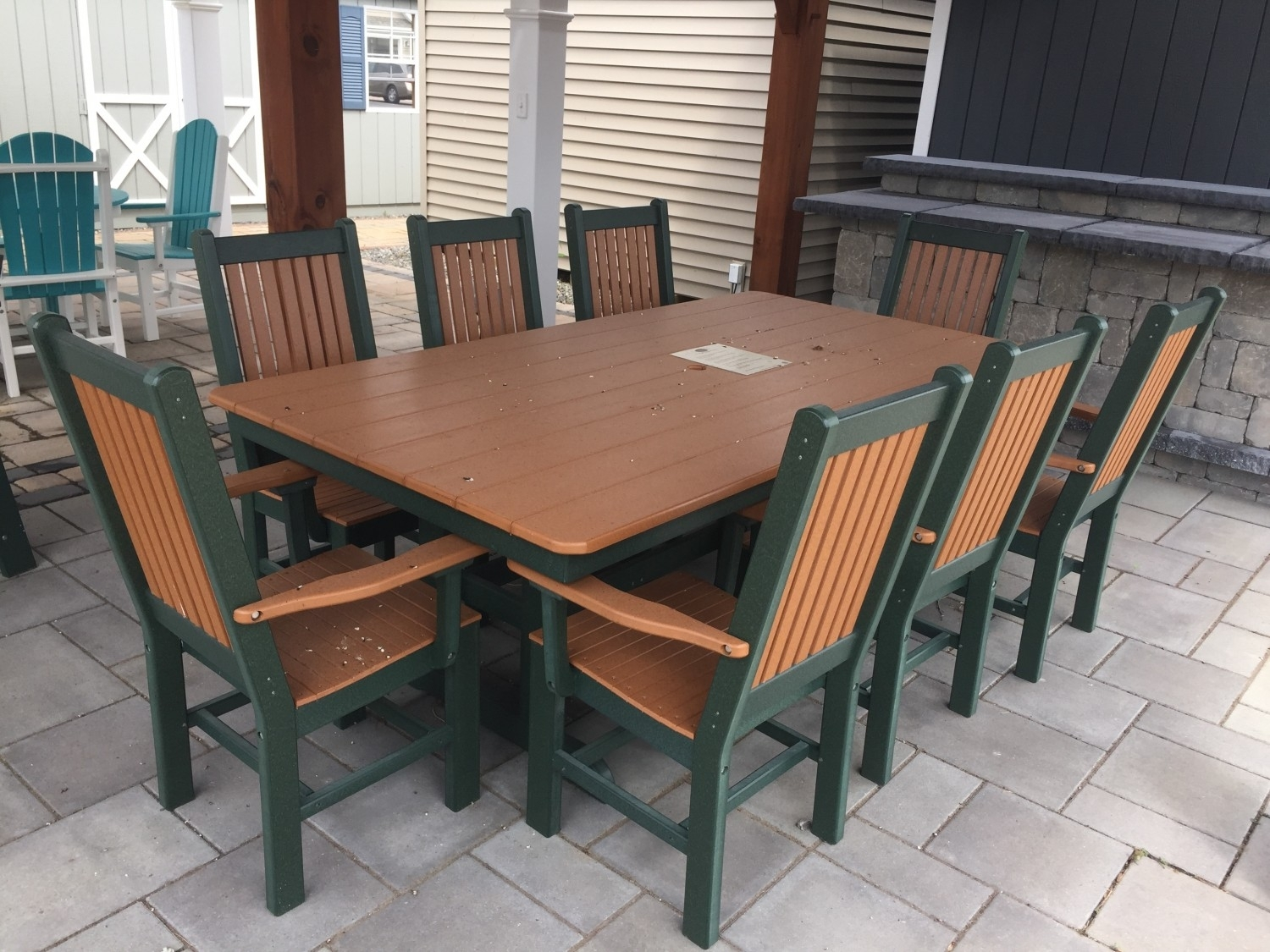 "Inspiration about Latest Green Cedar Dining Chairs Throughout 44""x84"" Poly Furniture Mission Dining Table: In Stock Sheds, Storage (#2 of 20)"