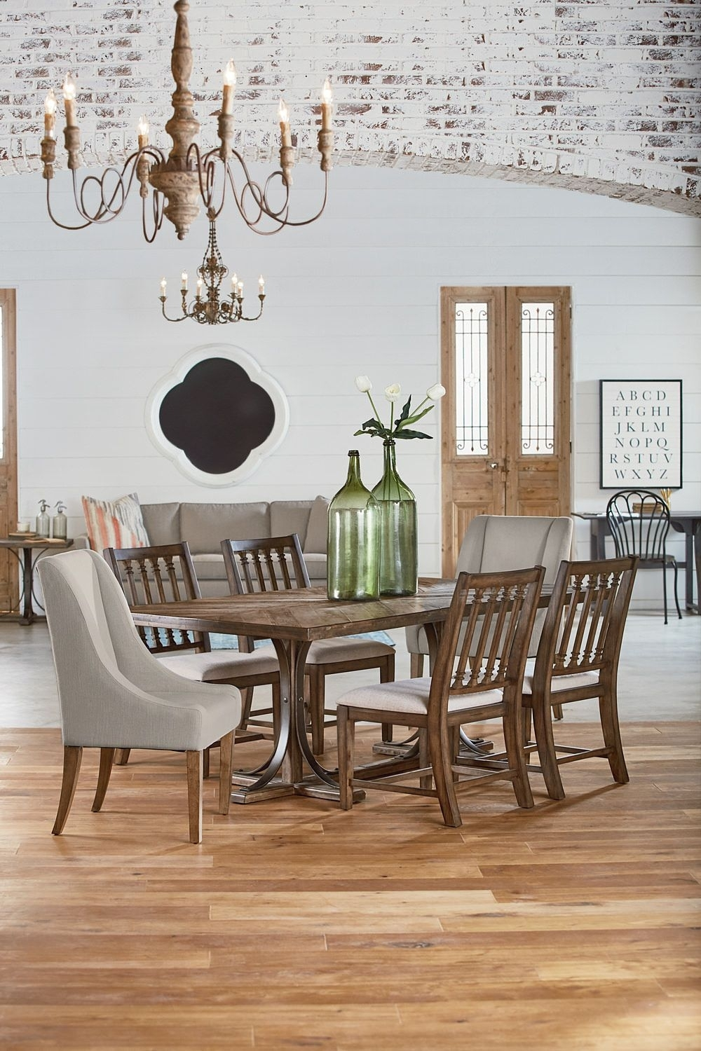 Latest Magnolia Home Camden Side Chairs Pertaining To Traditional Table With 4 Revival Side Chairs And 2 French Host (#8 of 20)