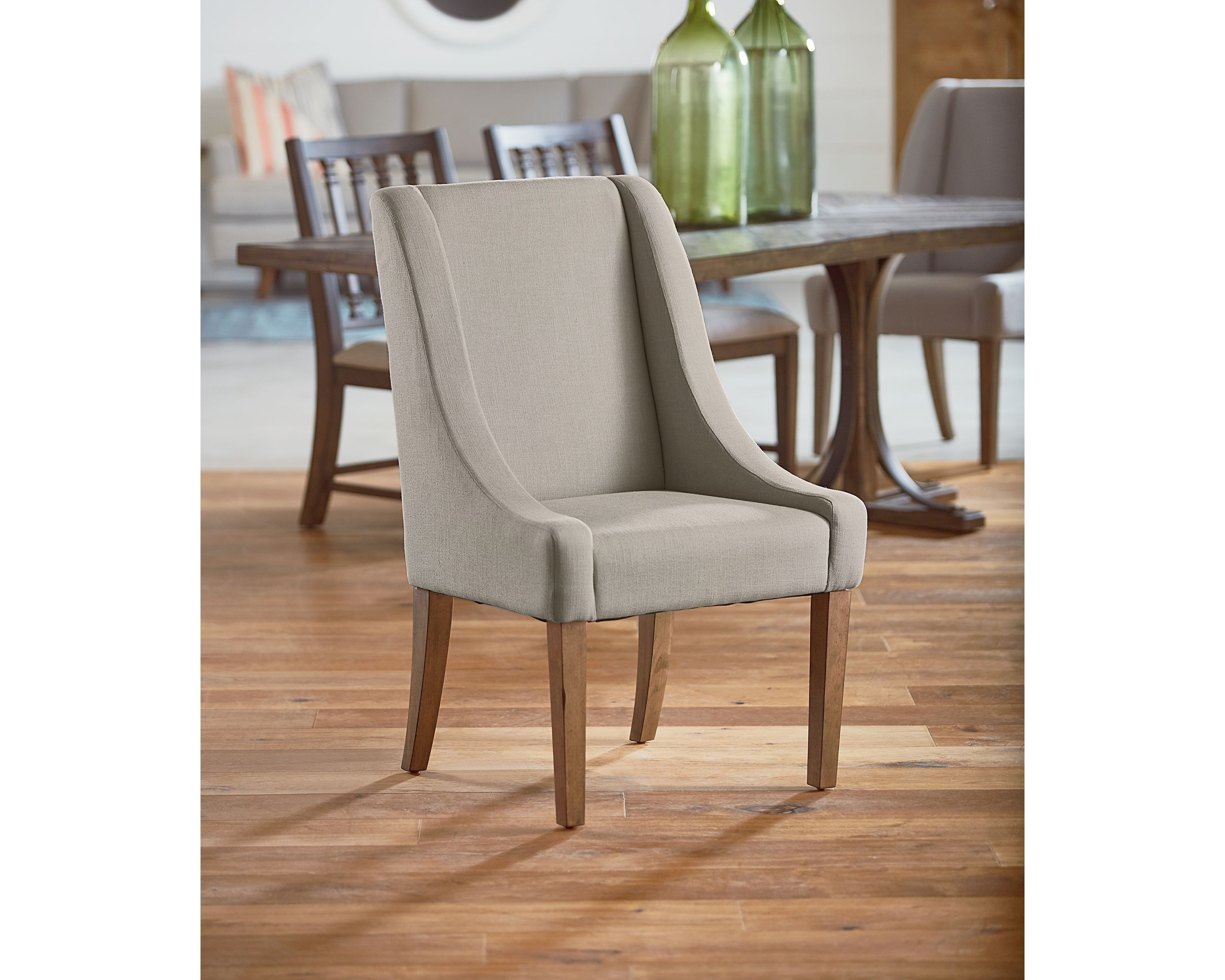 Inspiration about Latest Magnolia Home Demi Flannel Wing Side Chairs In Demi Wing Side Chair – Magnolia Home (#2 of 20)