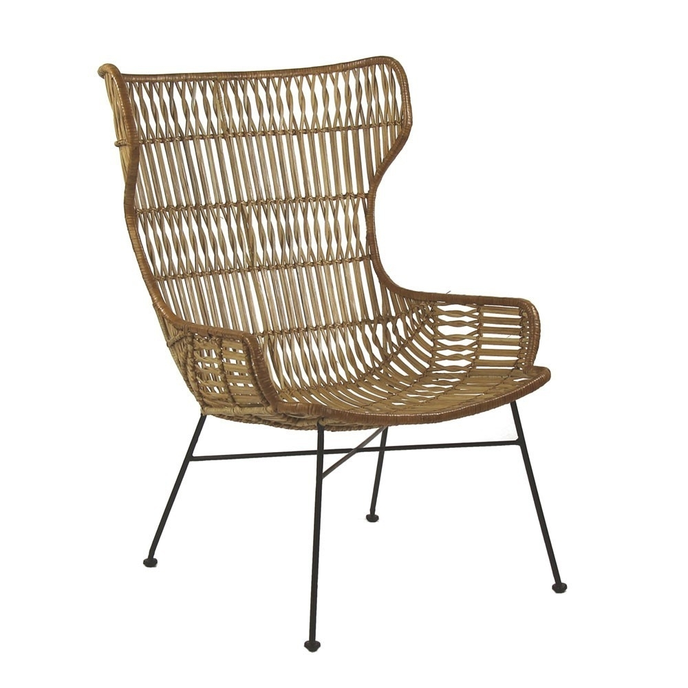 Latest Palermo Lounge Chair Natural Rattan – Pomax Within Natural Rattan Metal Chairs (View 17 of 20)