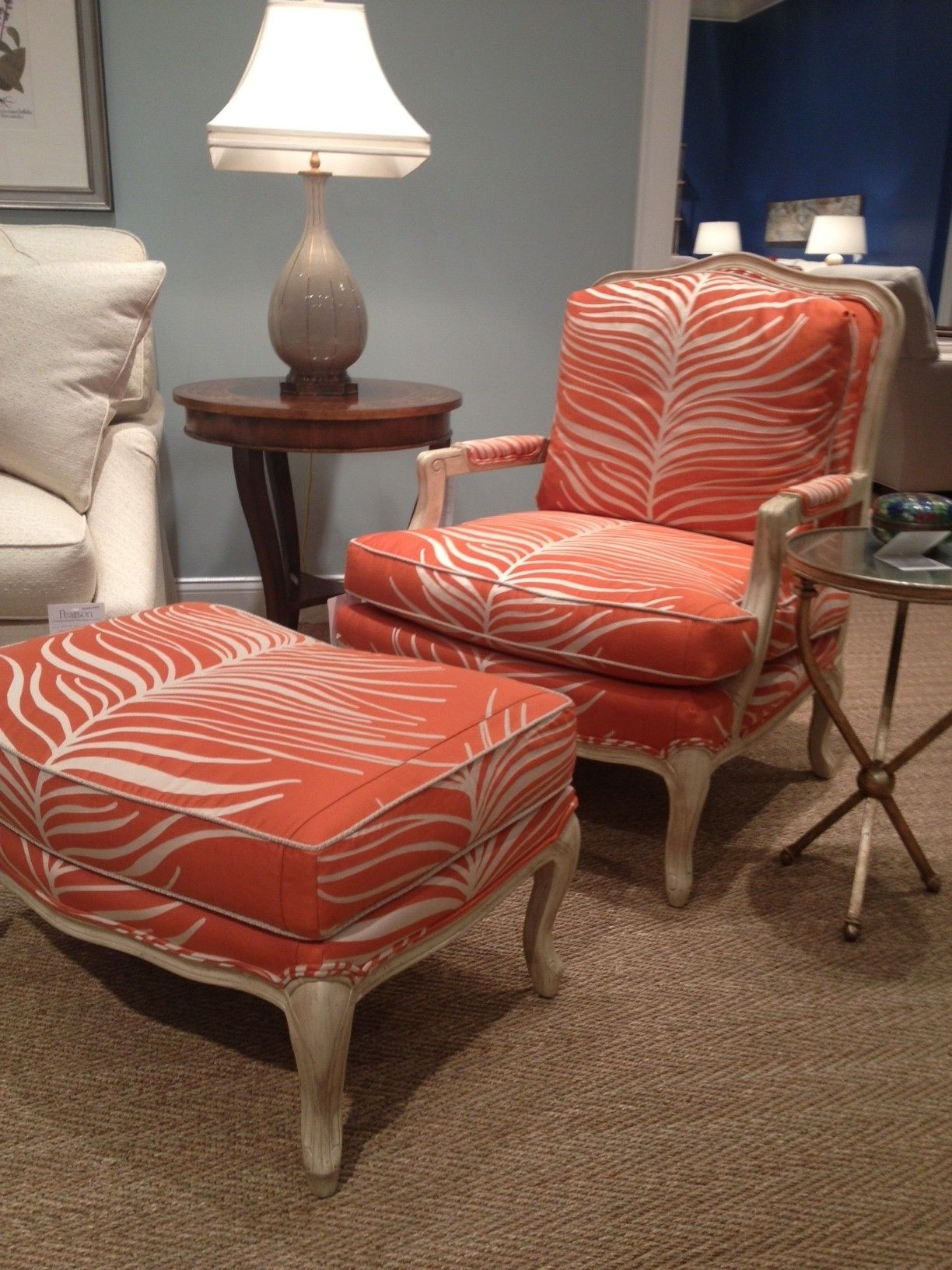 Inspiration about Latest Pearson Furniture Fab Orange Animal Print Chair! #hpmkt (#11 of 20)