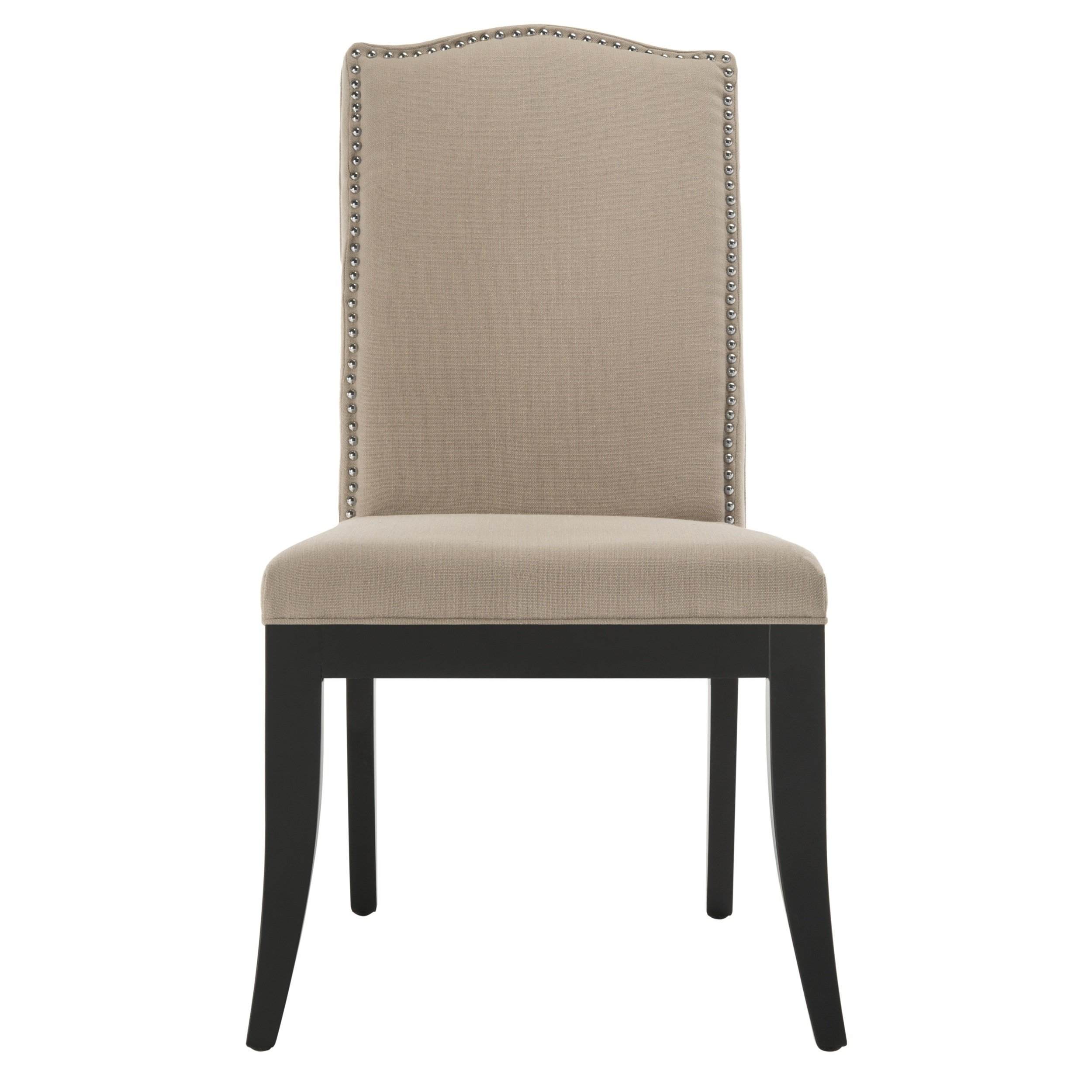 Laurent Upholstered Side Chairs With Regard To Favorite Safavieh En Vogue Dining Laurent Taupe Nailhead Dining Chairs (Set (#10 of 20)