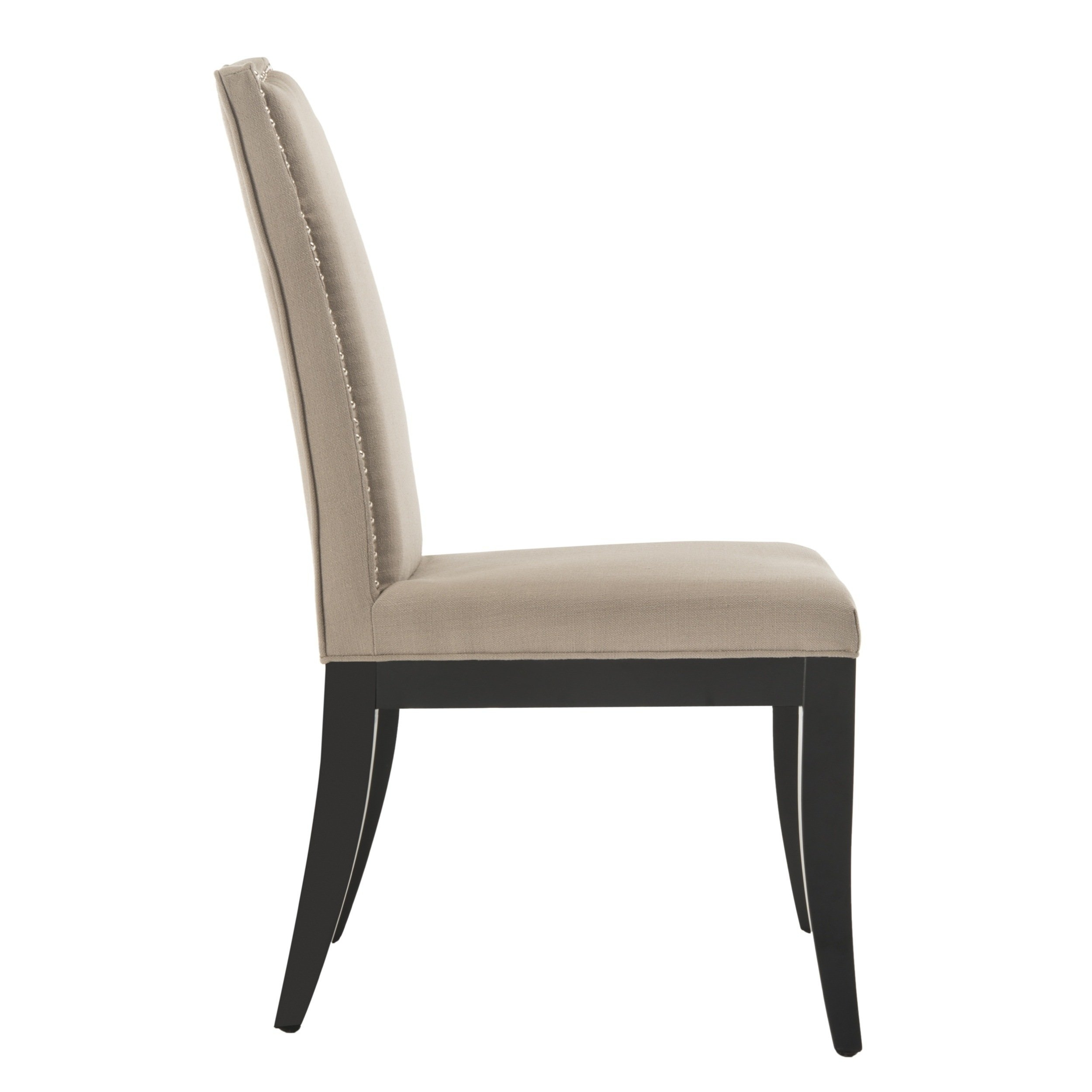 Inspiration about Laurent Wood Side Chairs Intended For Well Known Safavieh En Vogue Dining Laurent Taupe Nailhead Dining Chairs (Set (#5 of 20)