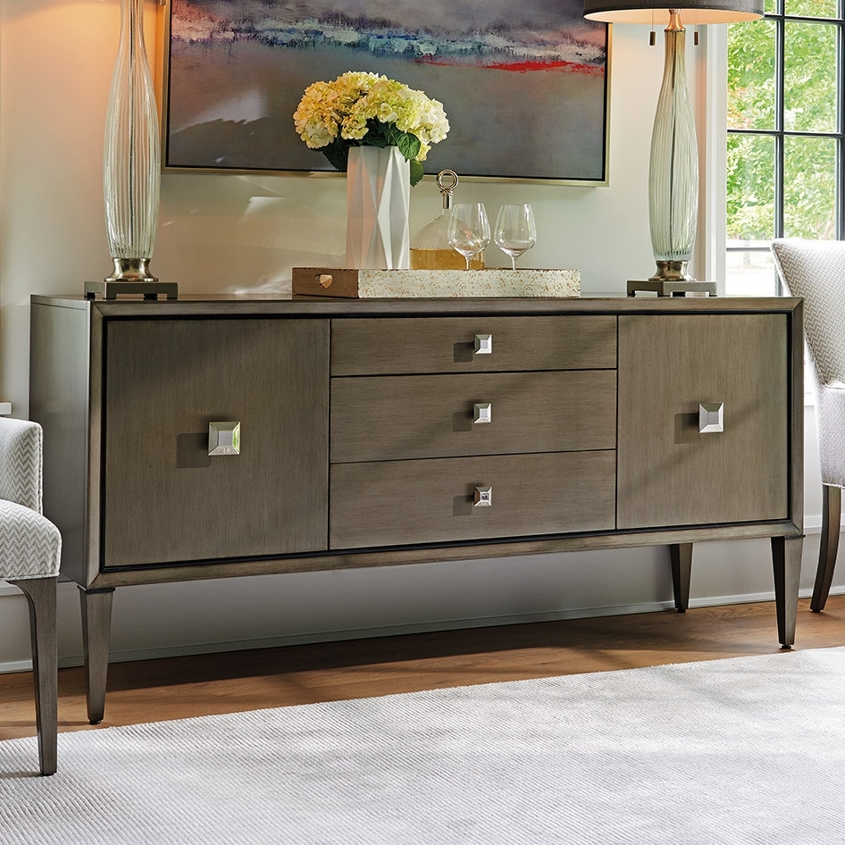 Inspiration about Lexington Ariana Provence 3 Drawer 2 Door Sideboard | Wayfair For Most Popular 3 Door 3 Drawer Metal Inserts Sideboards (#18 of 20)