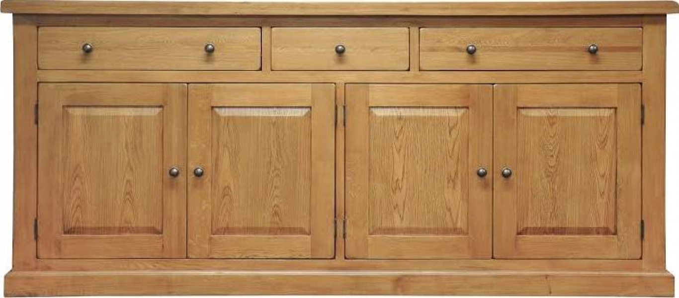 Inspiration about Leyton Oak Extra Large Sideboard With Regard To Most Up To Date Oil Pale Finish 3 Door Sideboards (#14 of 20)