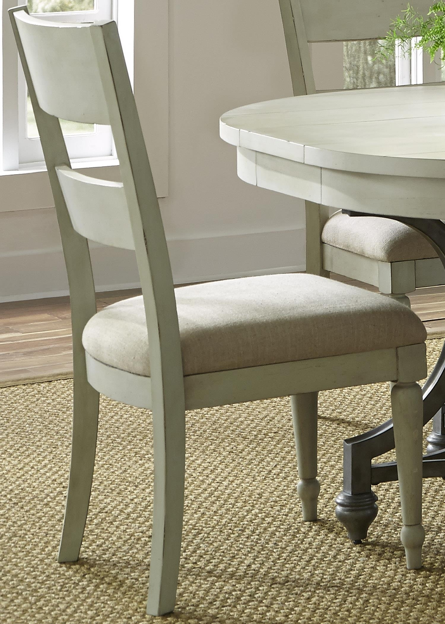 Liberty Furniture Harbor View Dining Side Chair With Slat Back In Fashionable Lindy Dove Grey Side Chairs (View 6 of 20)