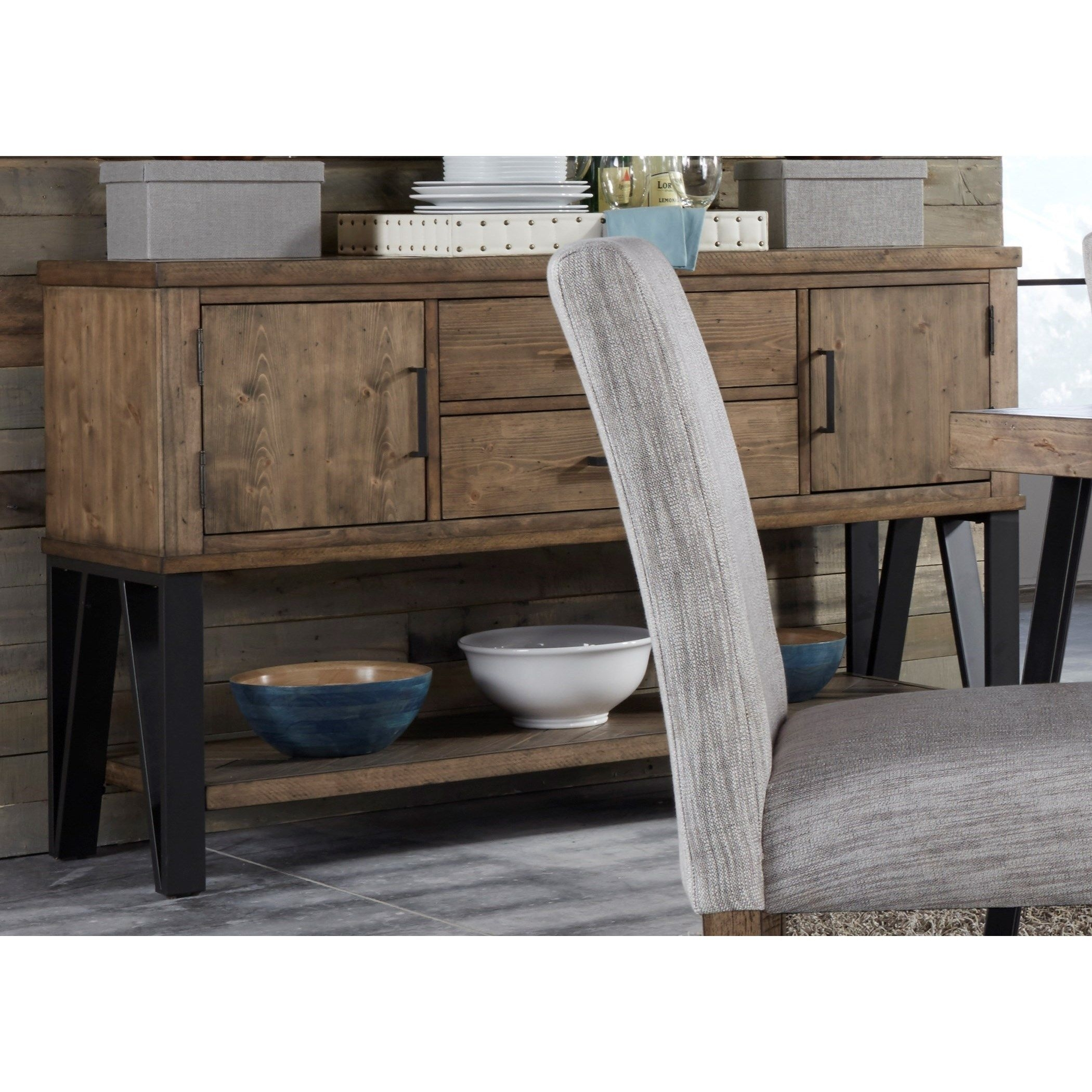 Liberty Furniture Horizons Dining Sideboard – Item Number: 42 Sb6036 Inside Most Recently Released 2 Door/2 Drawer Cast Jali Sideboards (View 12 of 20)
