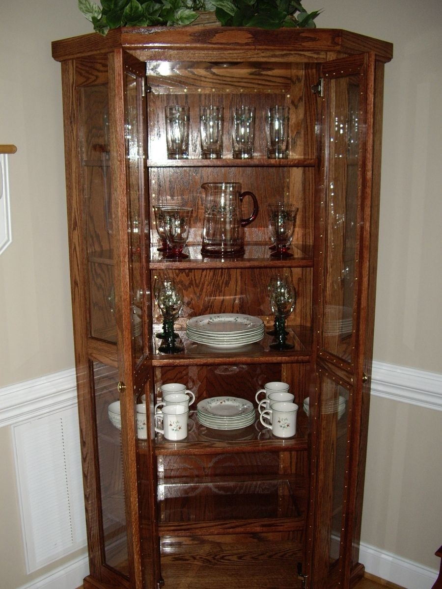Light Oak Corner China Cabinet – Cabinets Decorating Ideas Intended For Newest Rhya 4 Door Sideboards (#16 of 20)