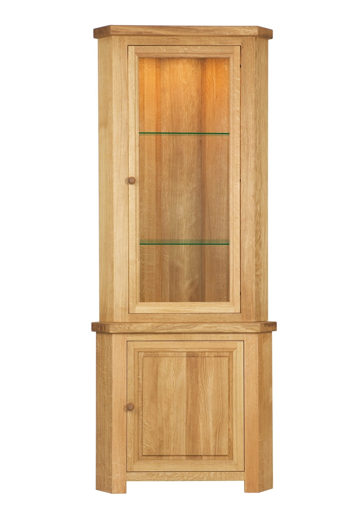 Light Oak Corner China Cabinet – Cabinets Decorating Ideas Throughout Most Recently Released Rhya 4 Door Sideboards (#17 of 20)