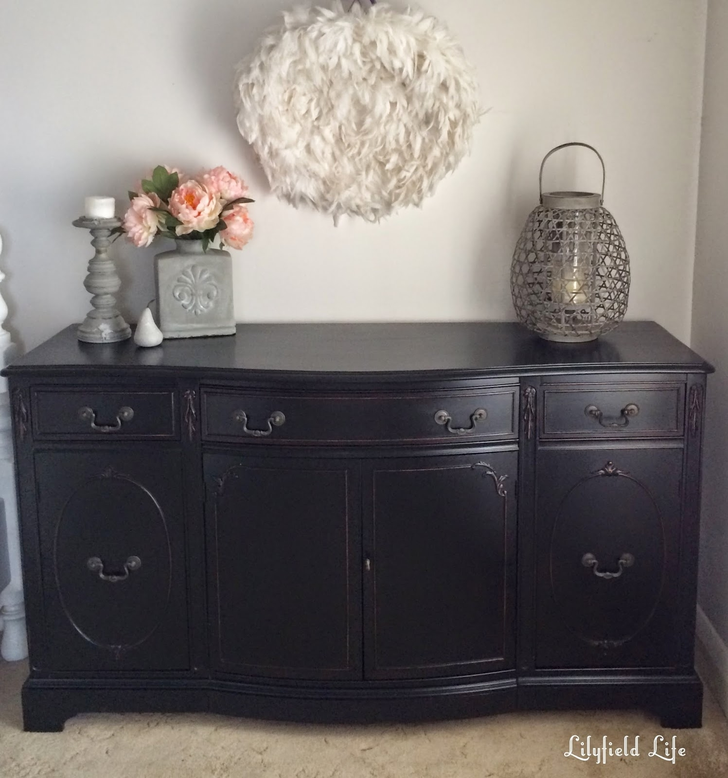 Popular Photo of Satin Black & Painted White Sideboards